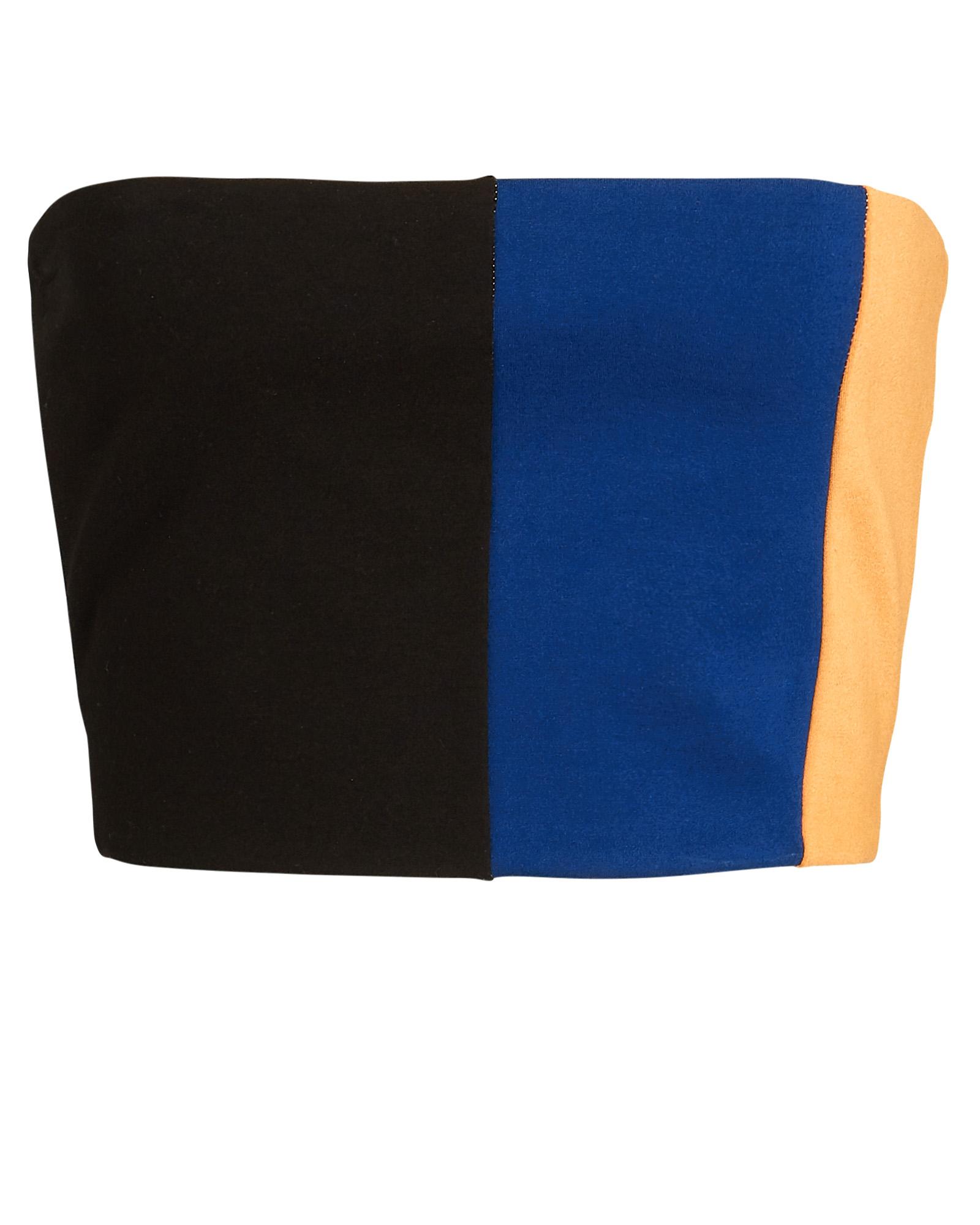 Staud Dakota Colorblock Knit Bandeau Top