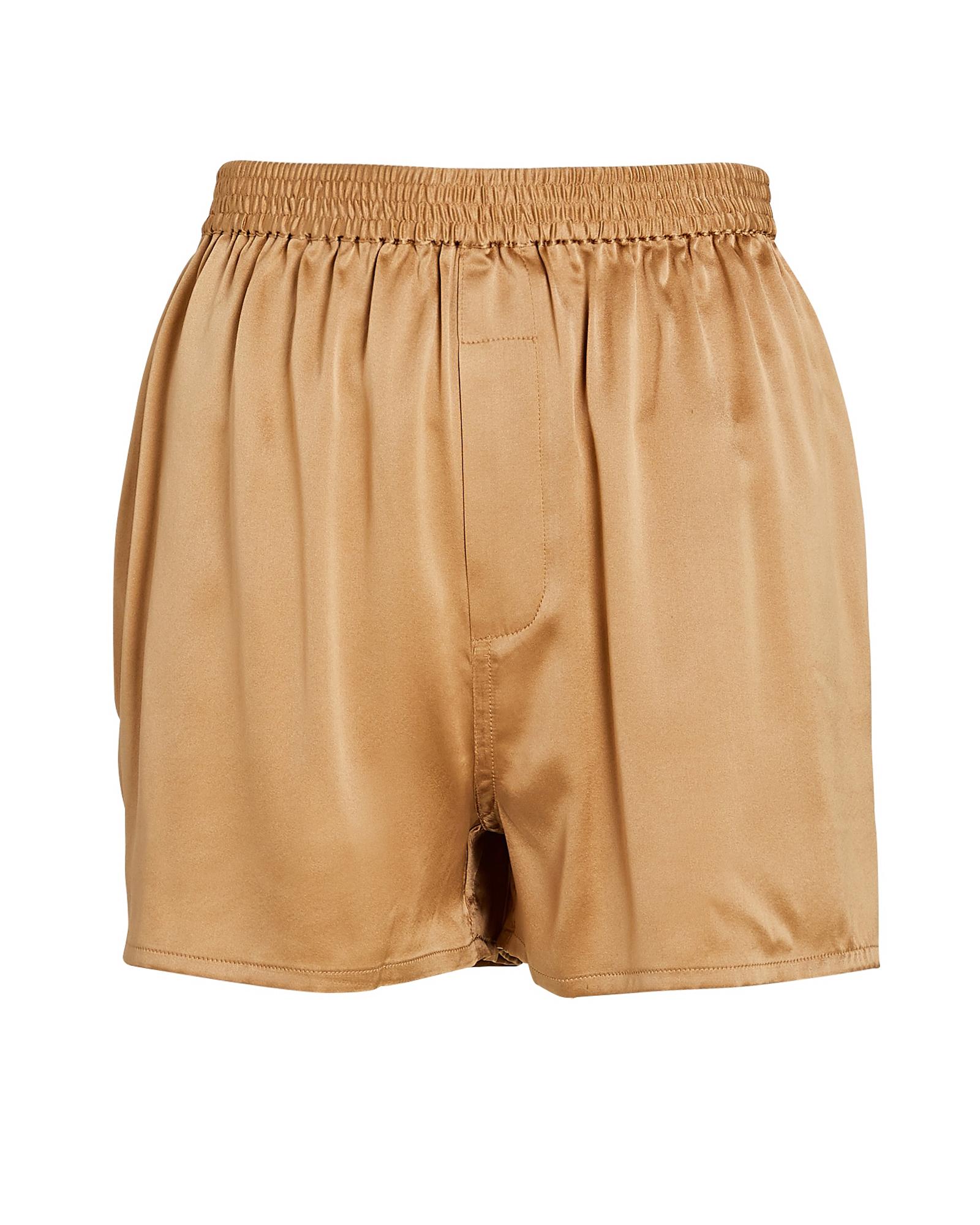 Frankies Bikinis Clothing Fifi Silk High-Rise Shorts