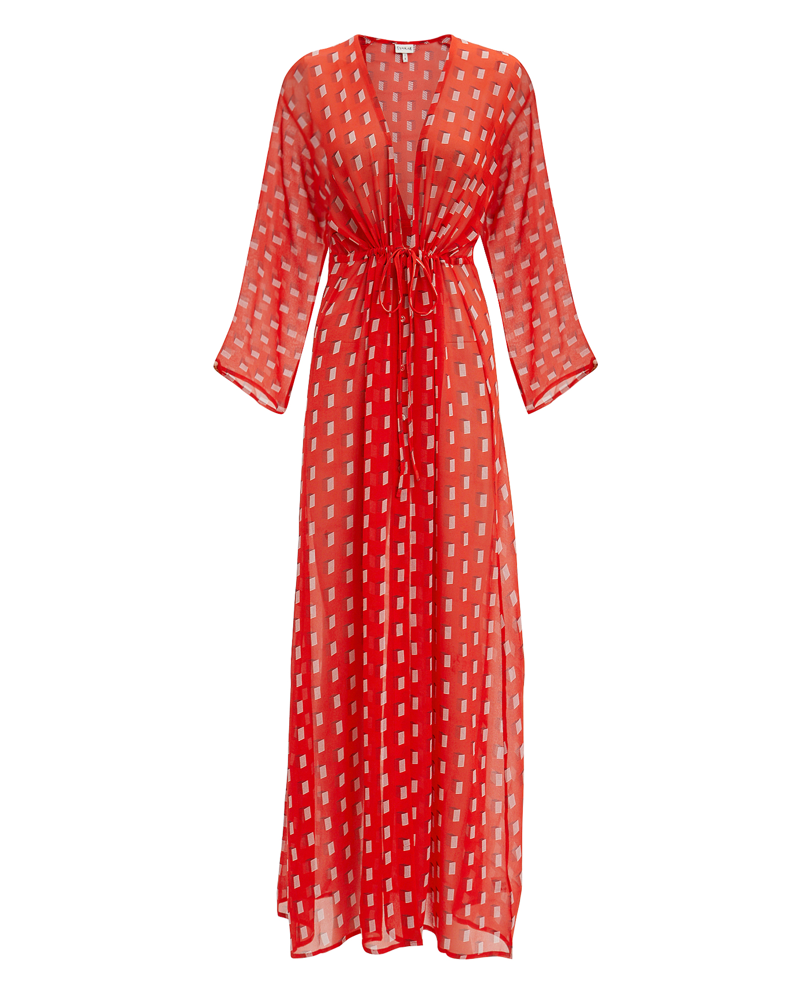 EVARAE Gela Kimono Red