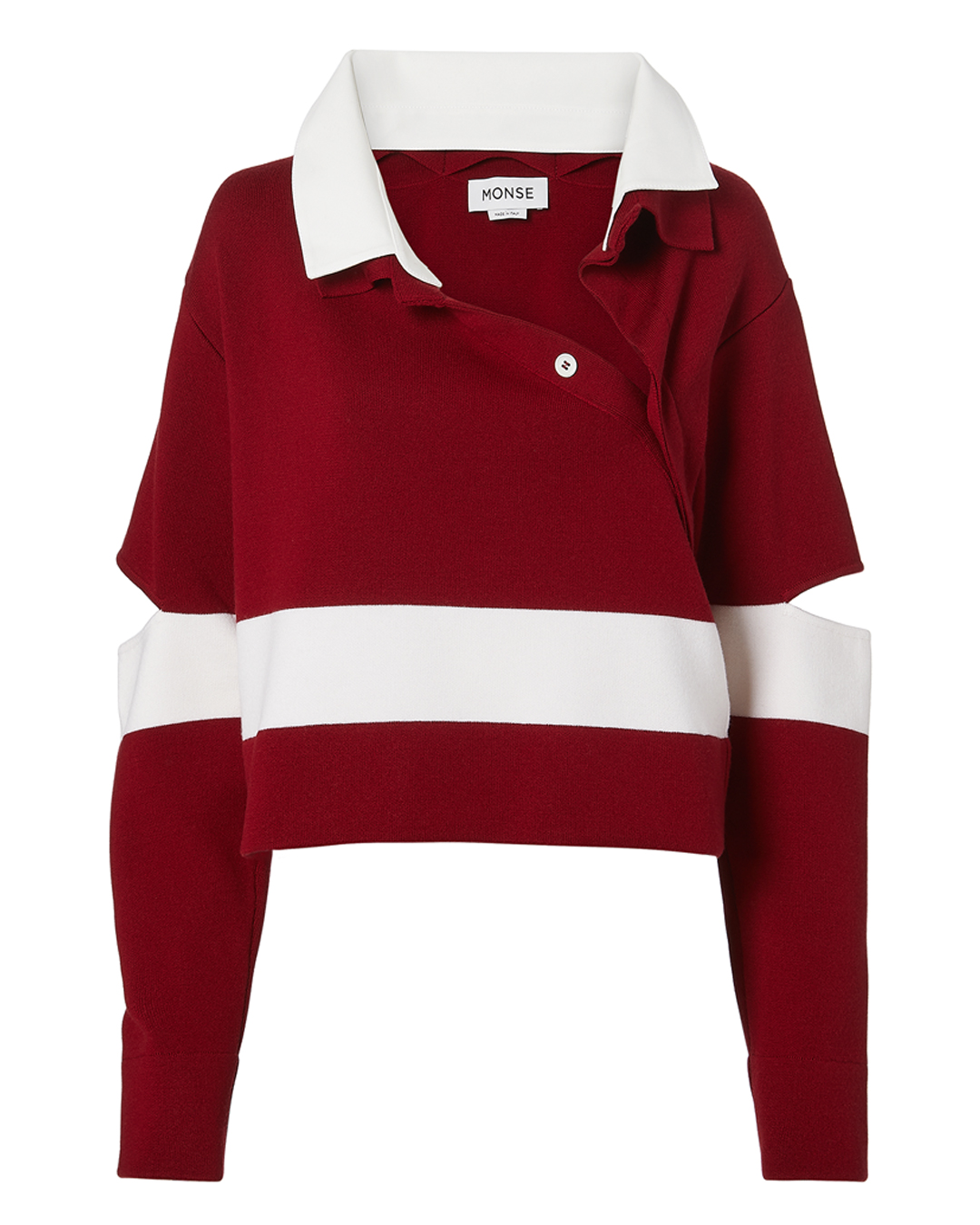Monse Stripe Polo Sweater