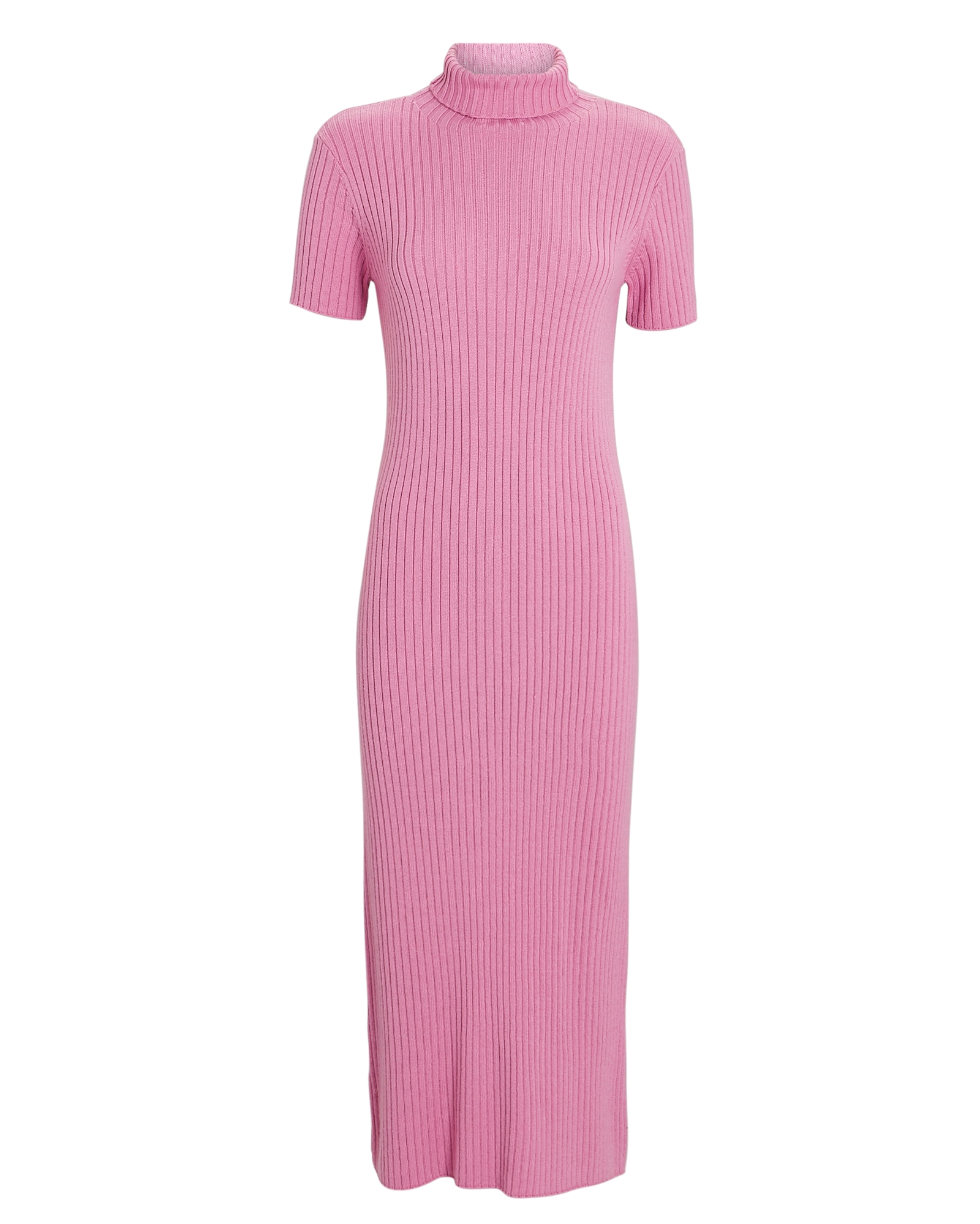 Staud LILOU TURTLENECK RIB KNIT DRESS