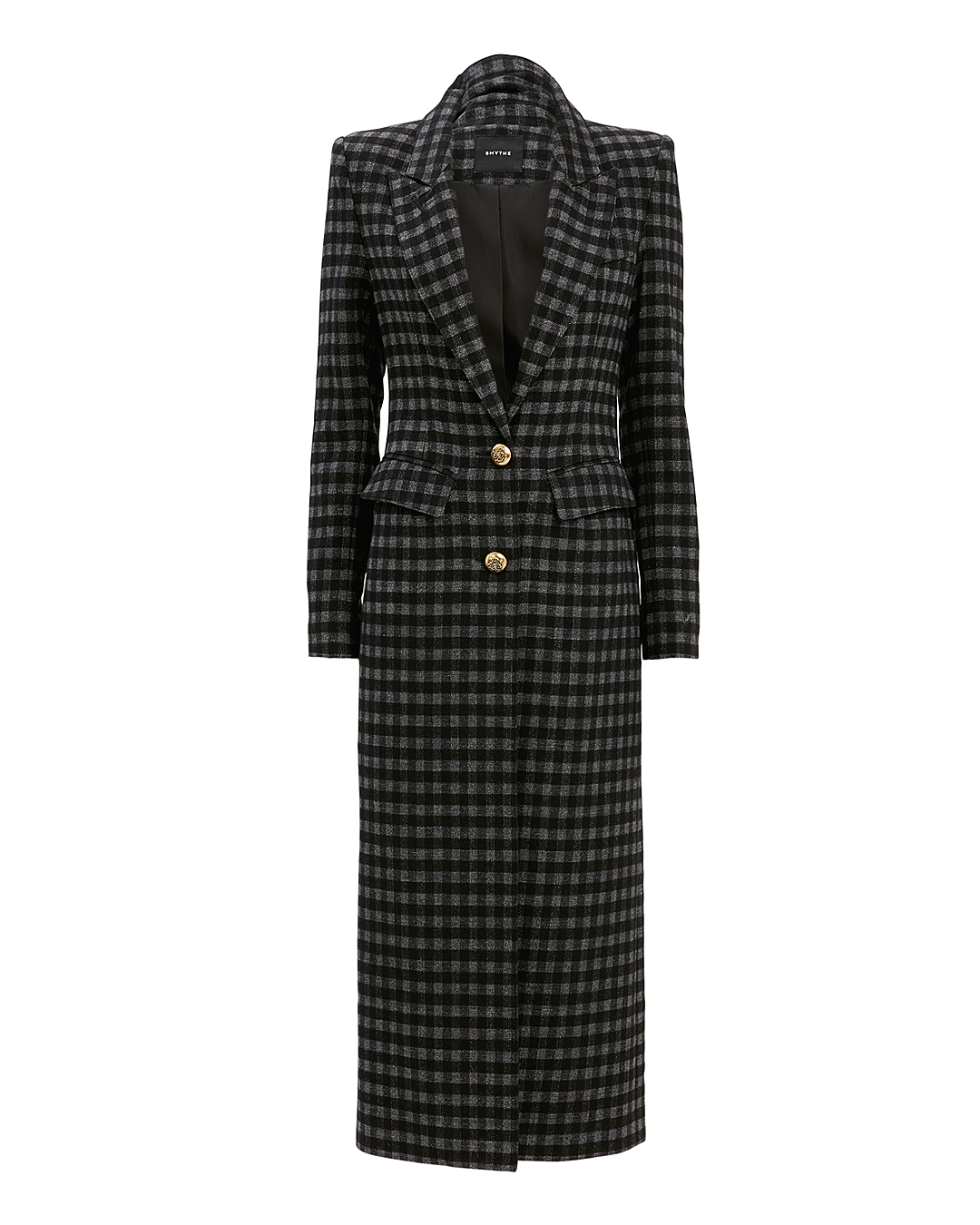 SMYTHE BRANDO PLAID COAT MULTI