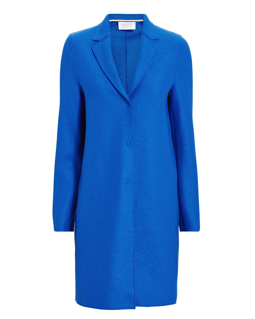HARRIS WHARF LONDON ELECTRIC BLUE COCOON COAT BLUE-MED