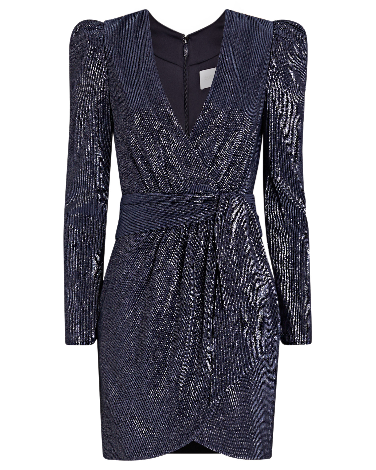 Jonathan Simkhai JONATHAN SIMKHAI METALLIC MINI WRAP DRESS