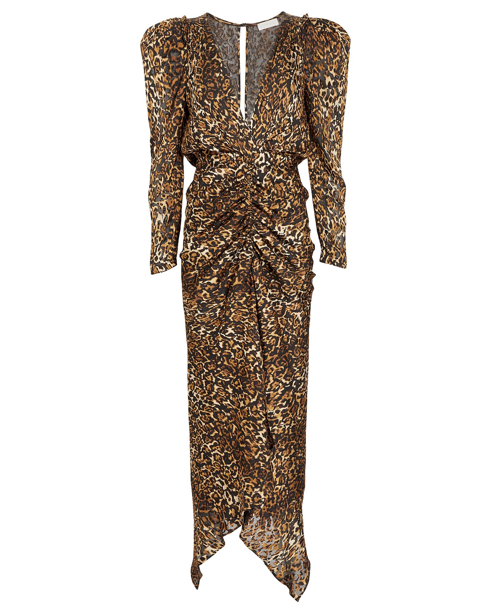 Ronny Kobo Dresses Astrid Leopard Burnout Dress