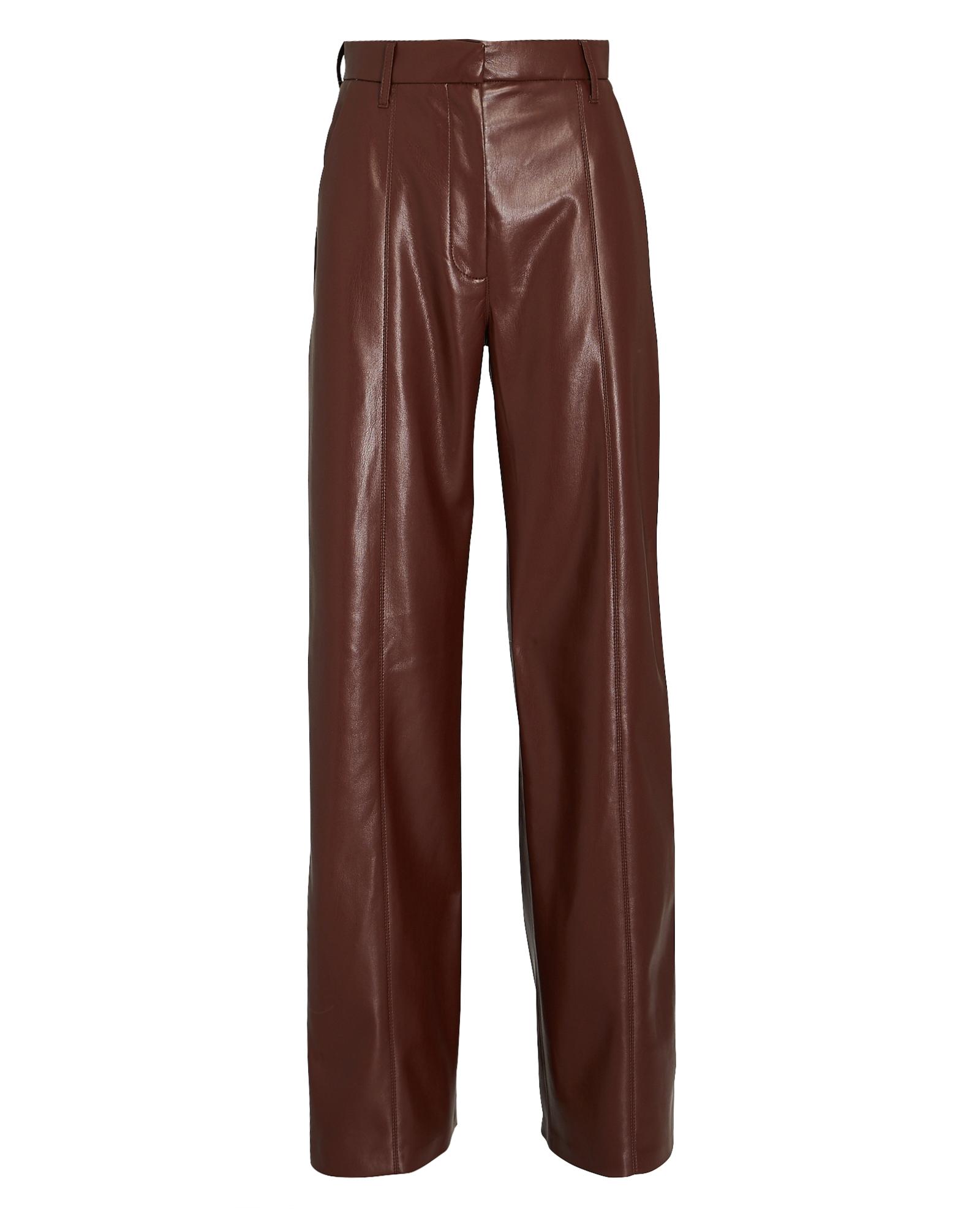 Nanushka Cottons NANUSHKA CLEO VEGAN LEATHER WIDE-LEG PANTS