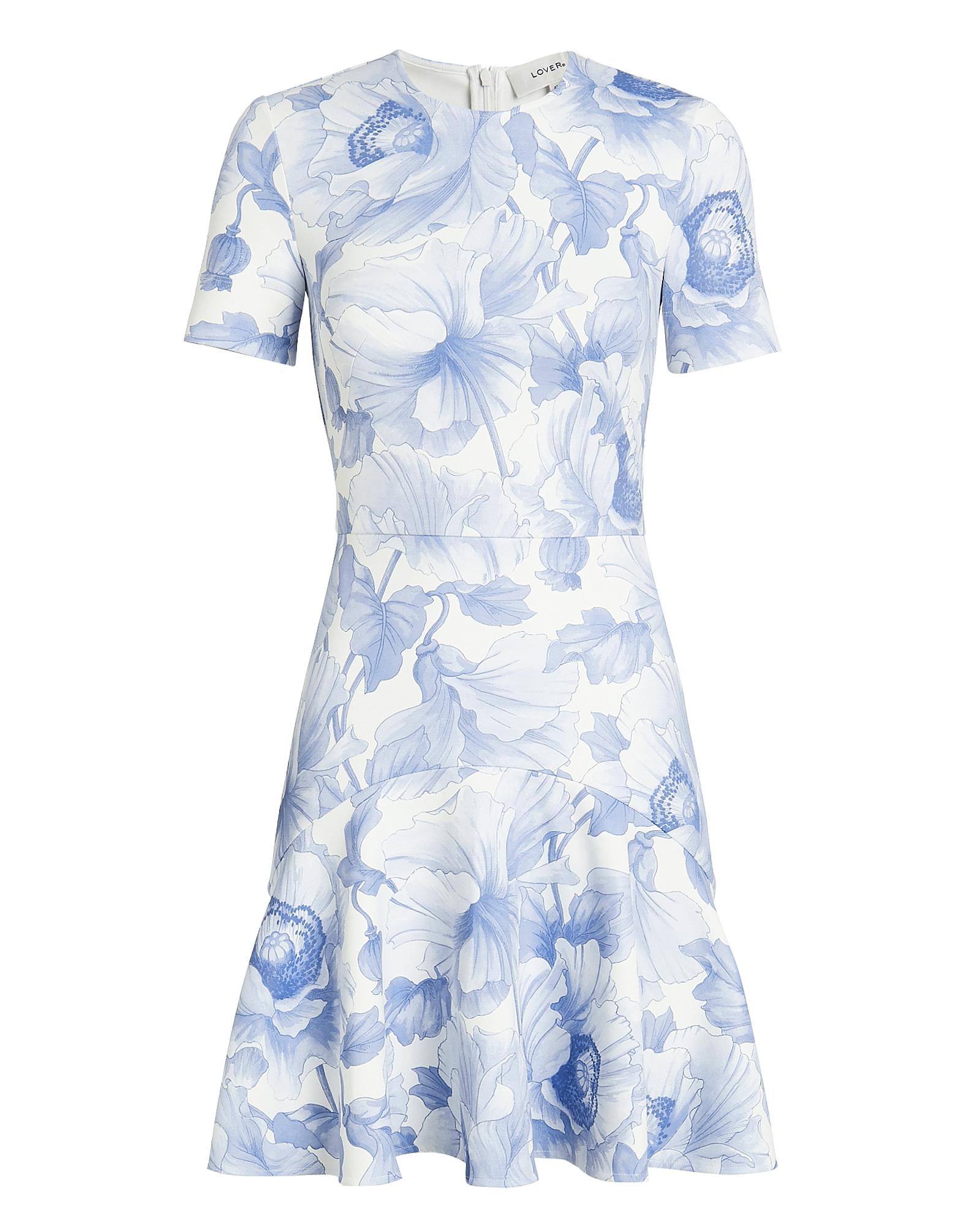 LOVER Fleur Flip Mini Dress White/Blue