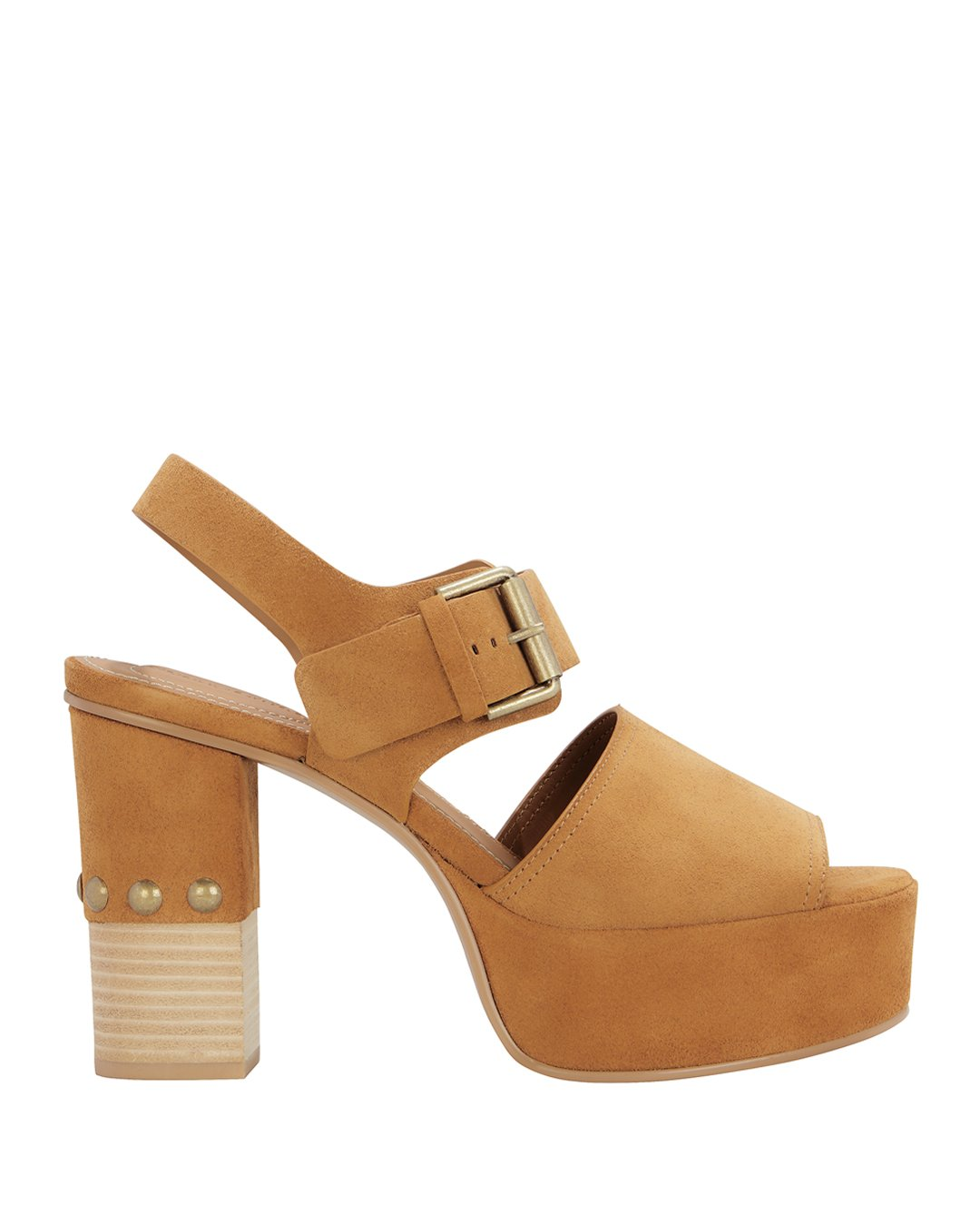 See By Chloe Classic Wedge Sandals in Tan