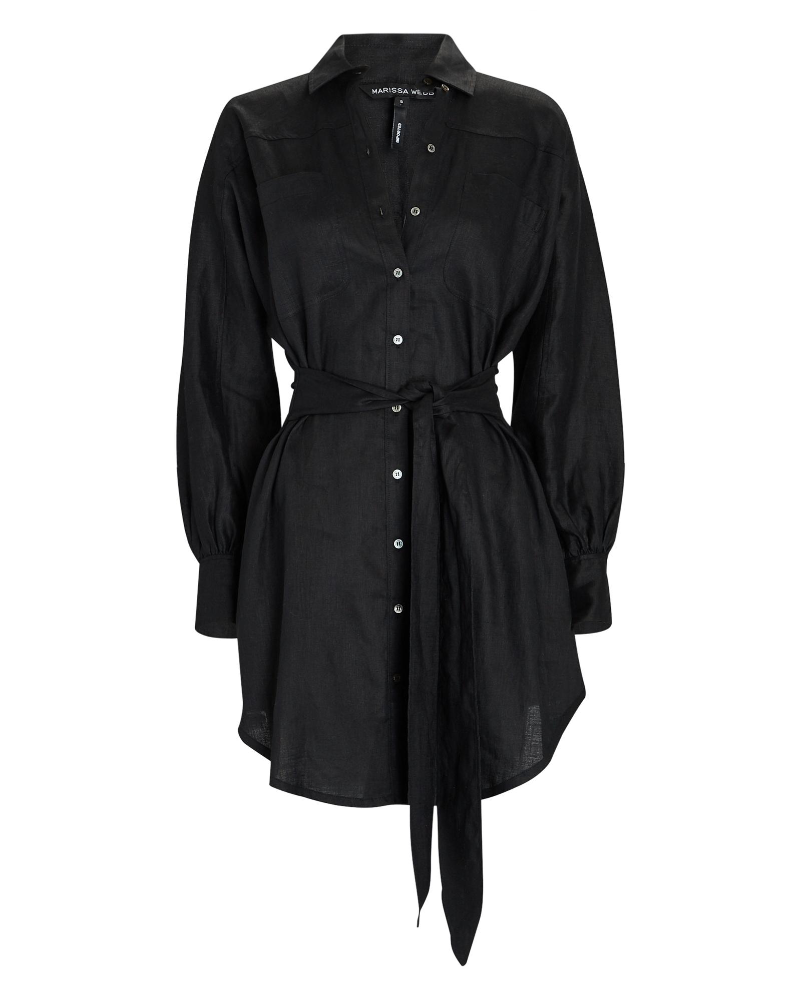 Marissa Webb Emerson Linen Tie-Front Mini Dress