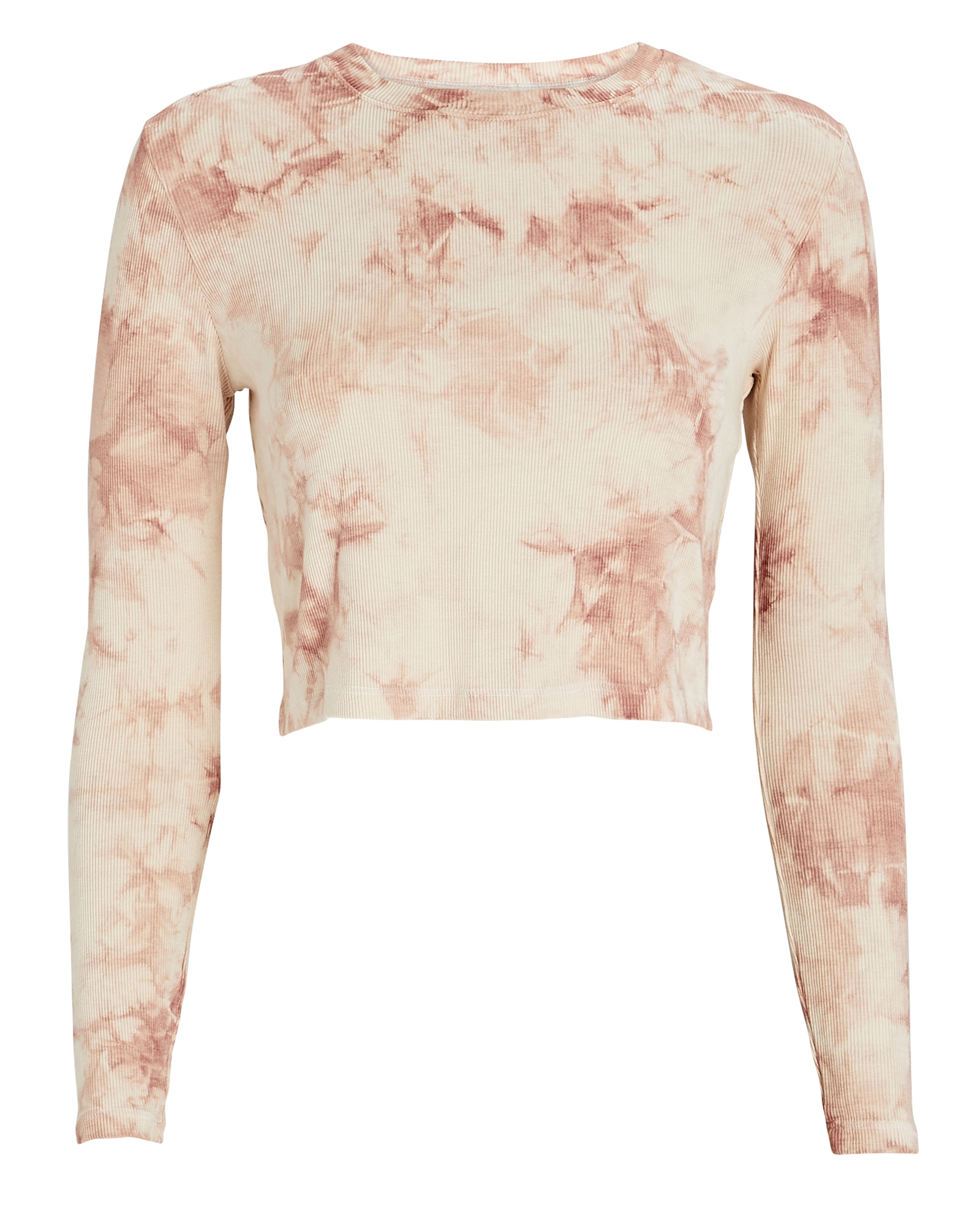 Year Of Ours Tops YEAR OF OURS LONG SLEEVE TIE-DYE CROP TOP
