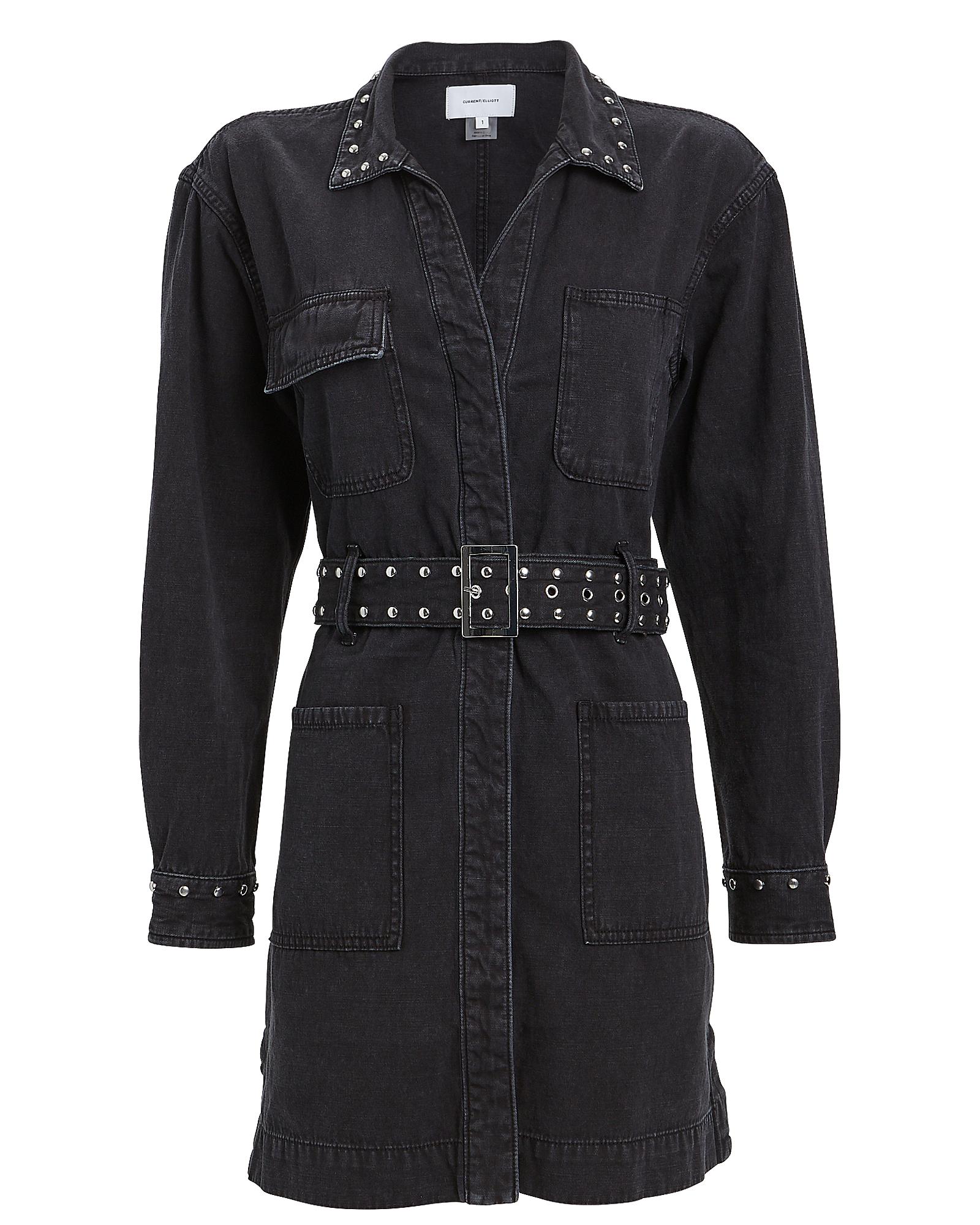 Current Elliott Dresses CURRENT/ELLIOTT DEBBIE STUDDED SHIRT DRESS