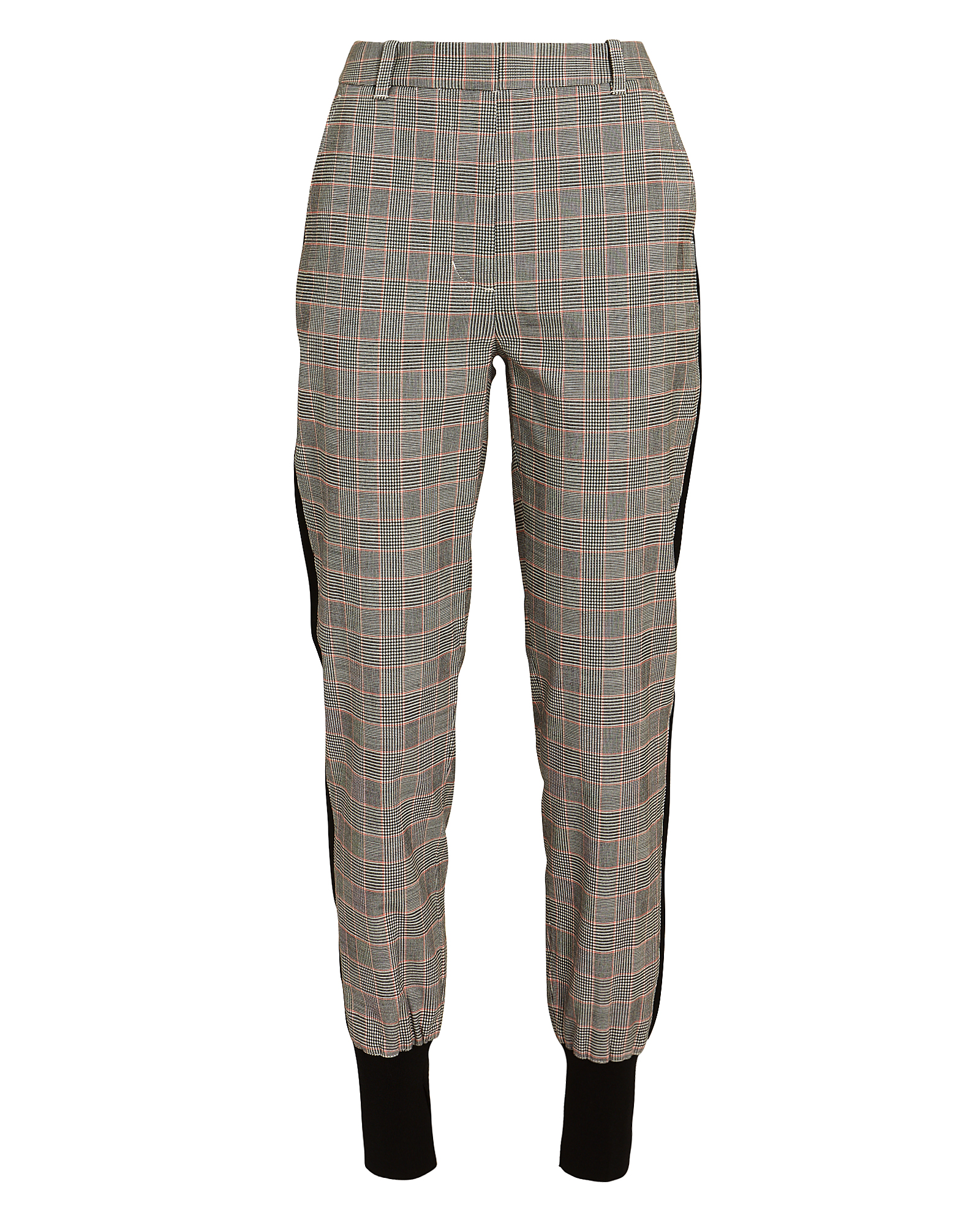 PHILLIP LIM 3.1  Checked Wool Jogger Pants Blk/Wht