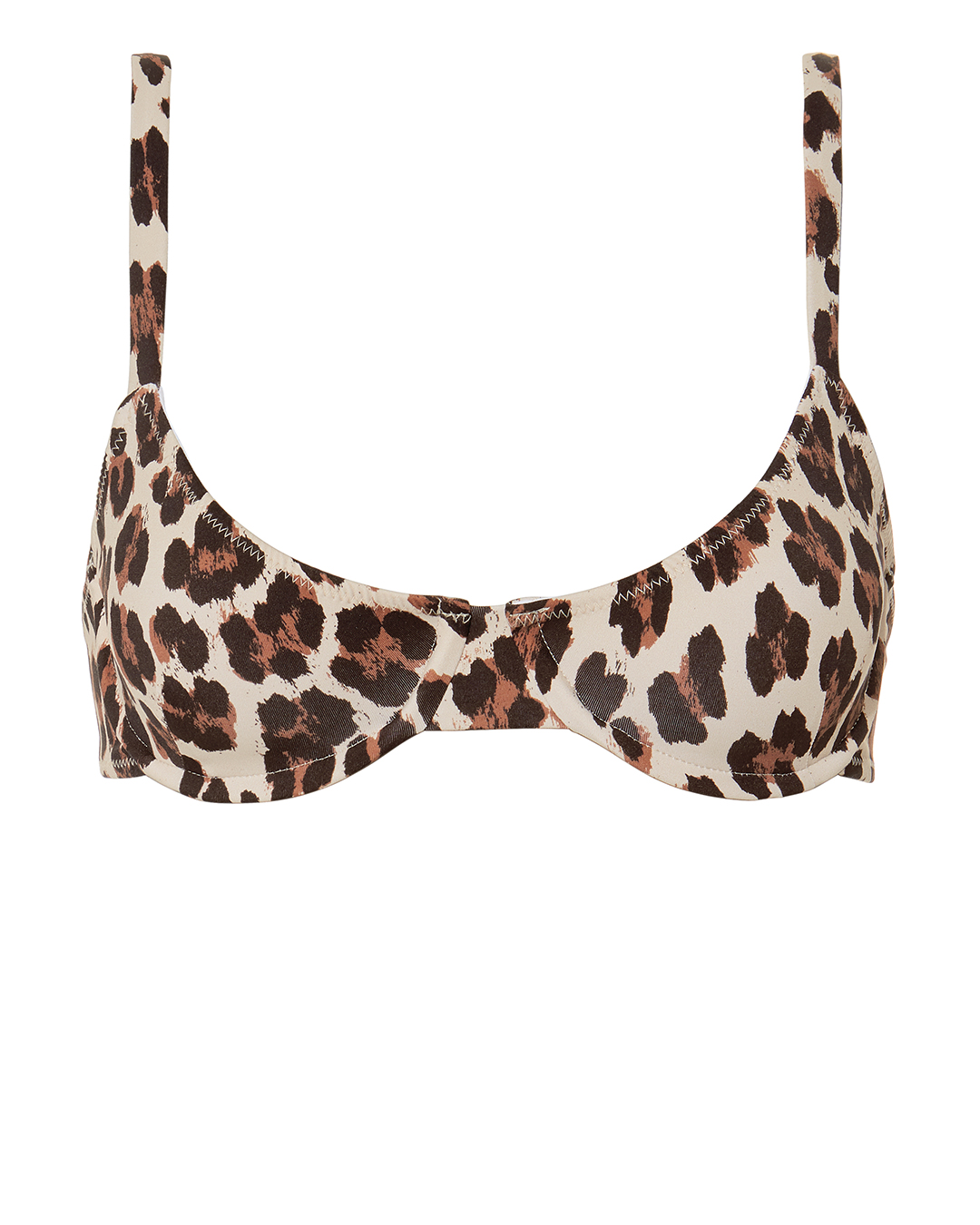 Mykela Leopard Bikini Top by Caroline Constas Mer