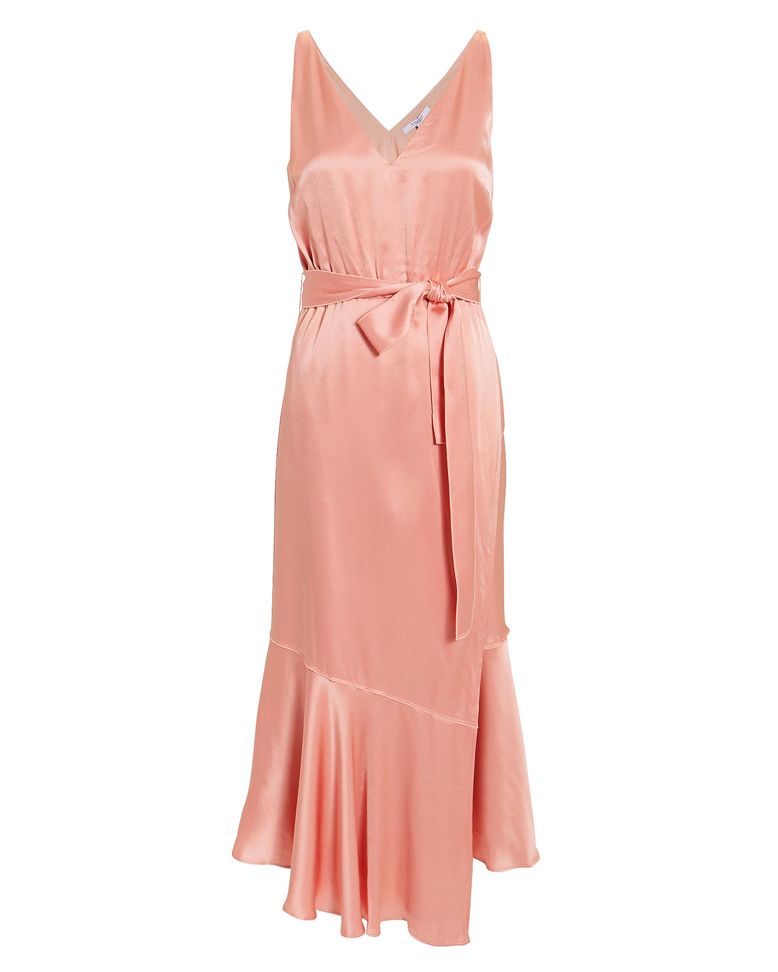 10 CROSBY Blush Satin Midi Dress