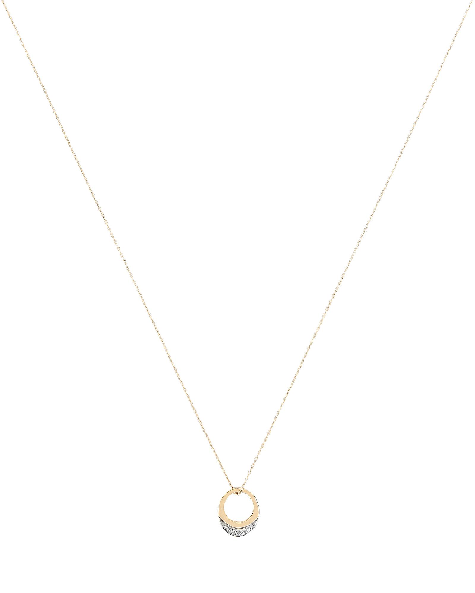 Adina Reyter Super Tiny Pavé Petal Necklace