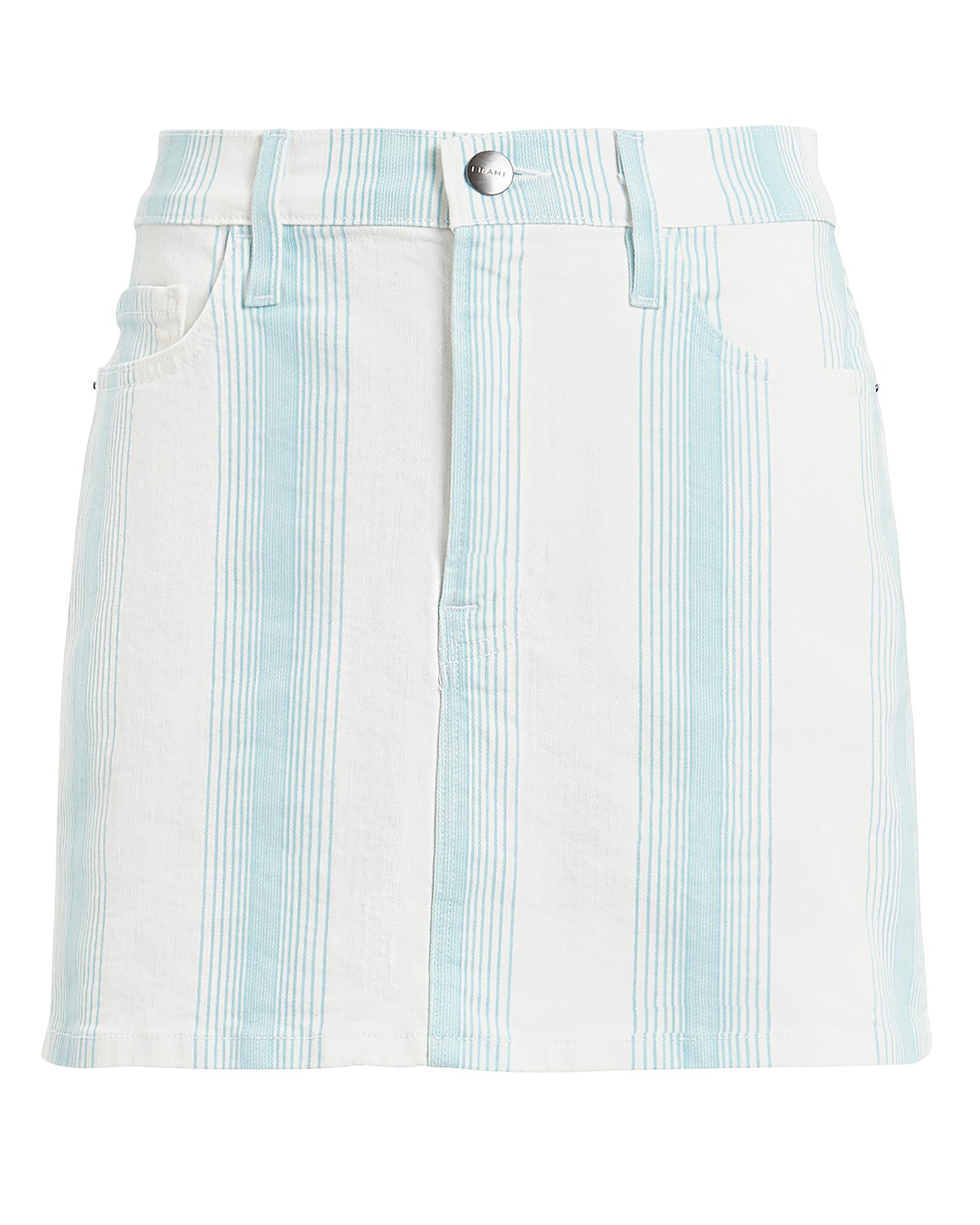 Frame Skirts FRAME LE MINI OMBRE DENIM SKIRT  IVORY/BLUE STRIPE 25
