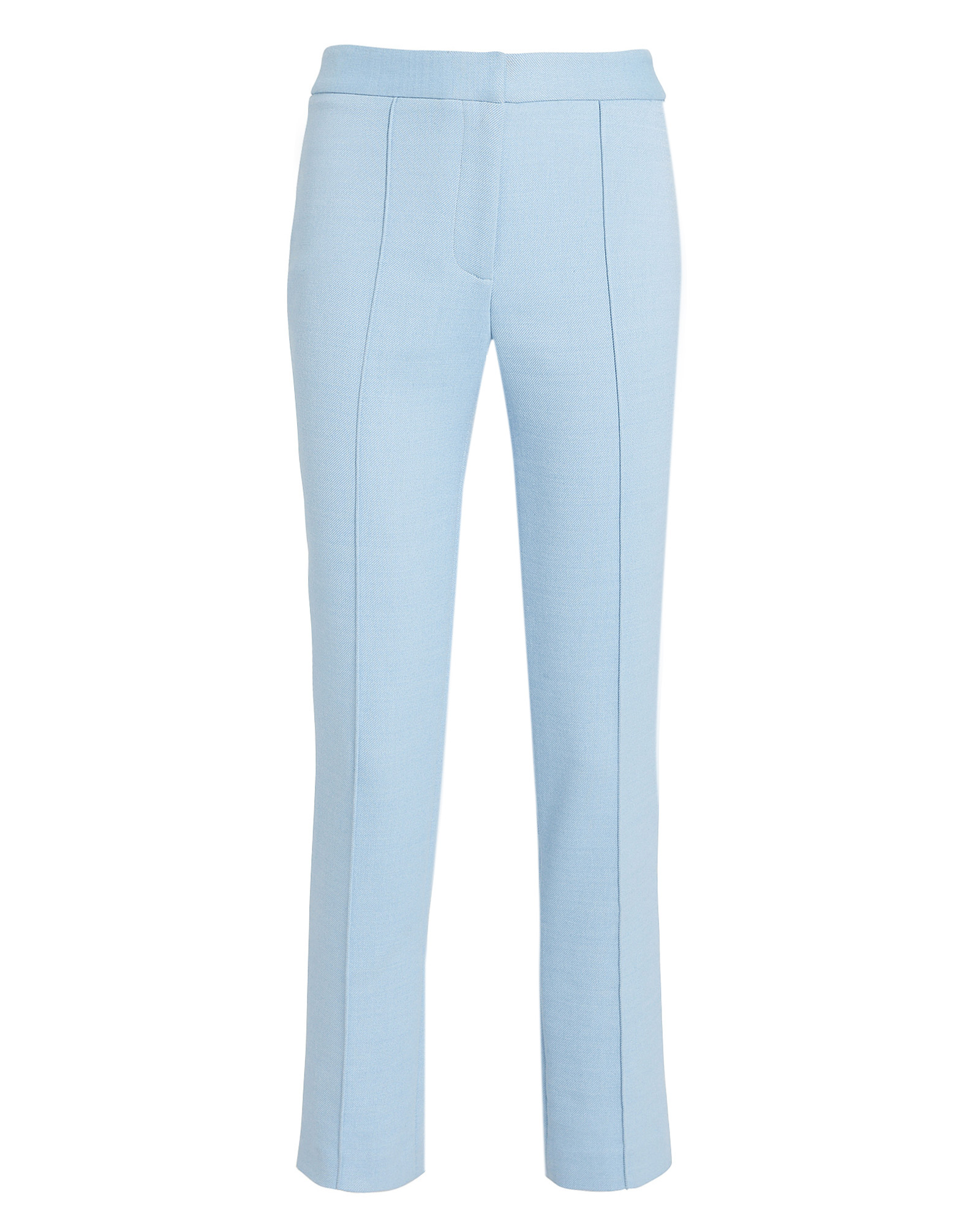 Adam Lippes Pants ADAM LIPPES CIGARETTE PINTUCK PANTS  POWDER BLUE 4