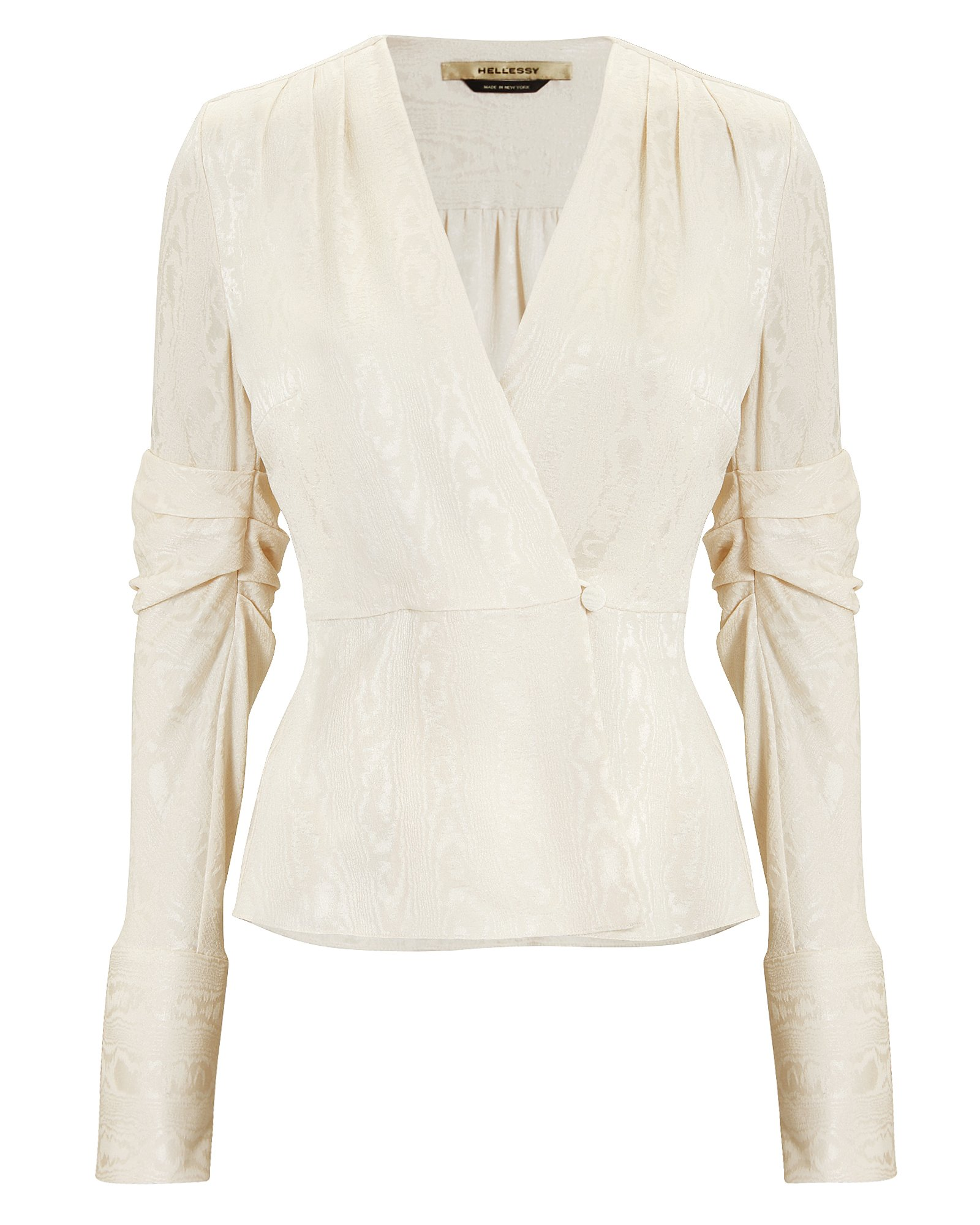 CASSIE BROCADE JACKET TOP IVORY