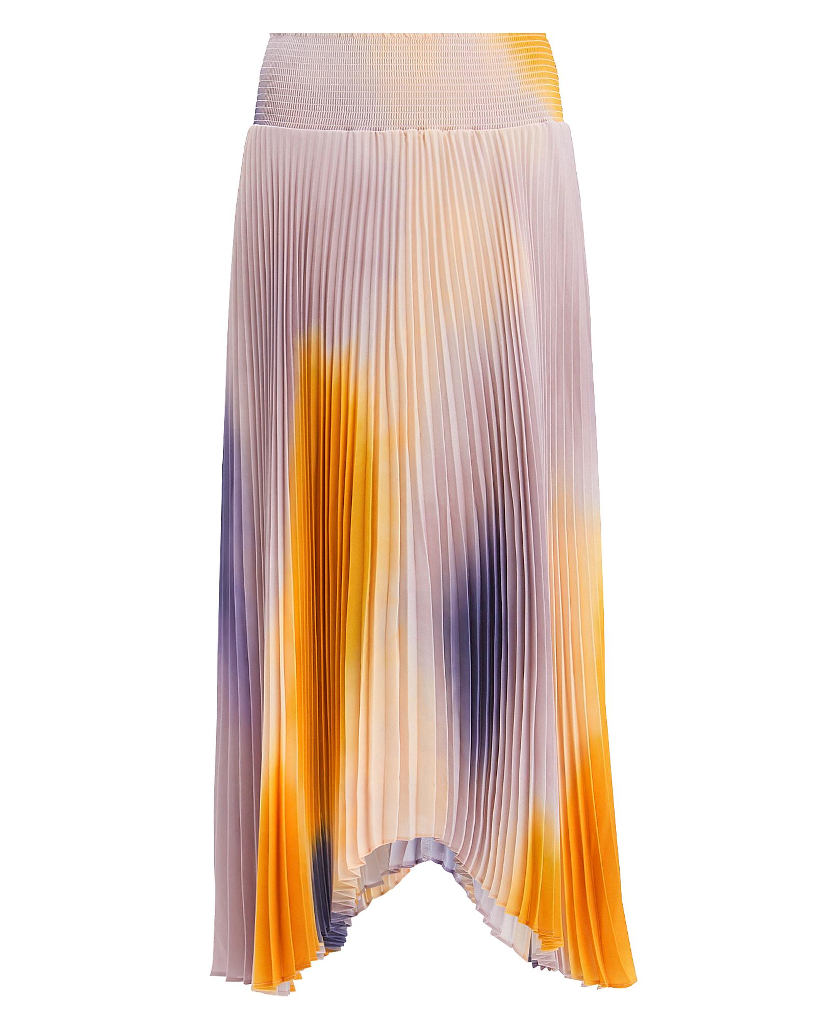 A.l.c Skirts A.L.C. SONALI OMBRé  MIDI SKIRT  ORANGE/PURPLE/BLUSH S