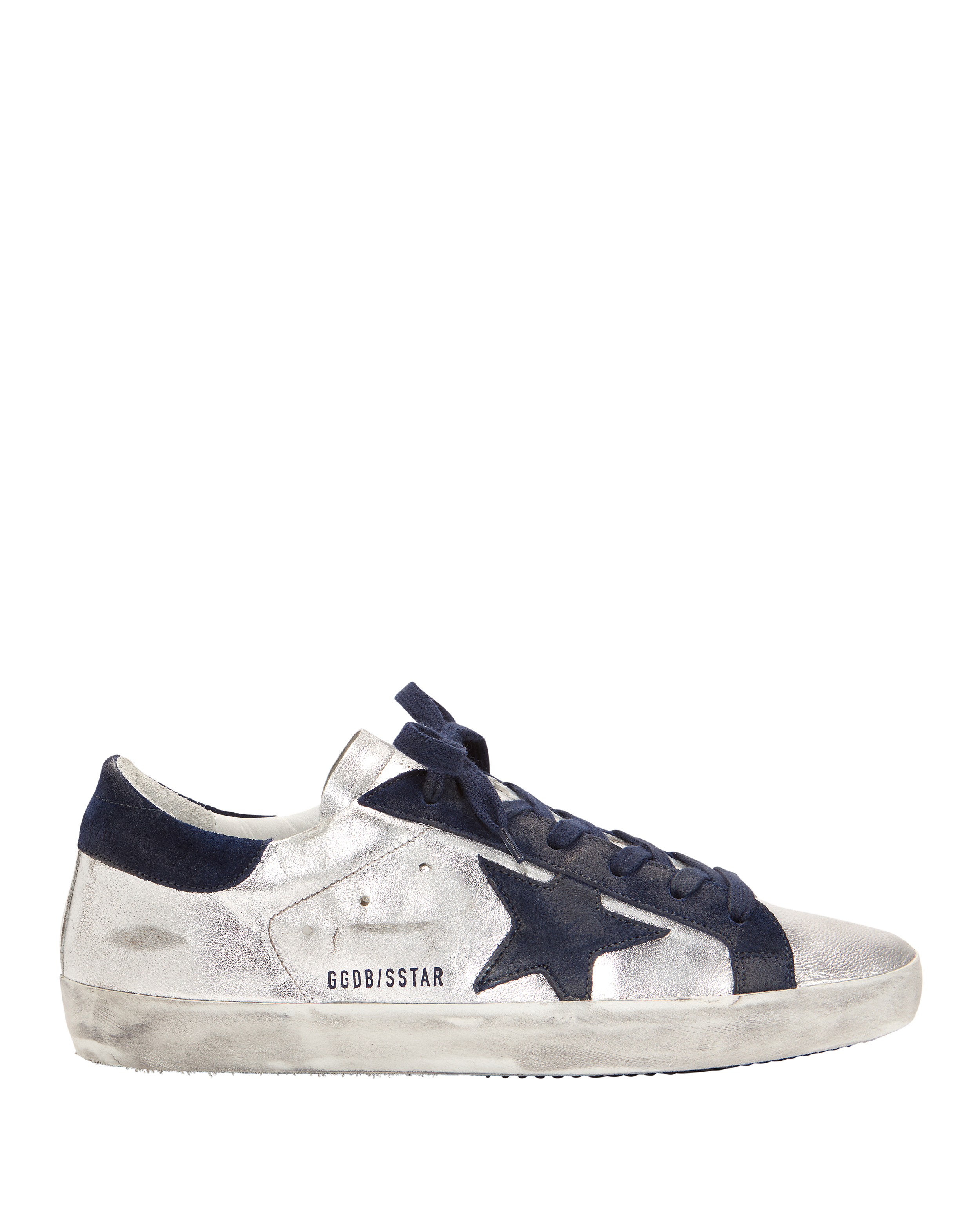 SUPERSTAR NAVY STAR SILVER SNEAKERS SILVER