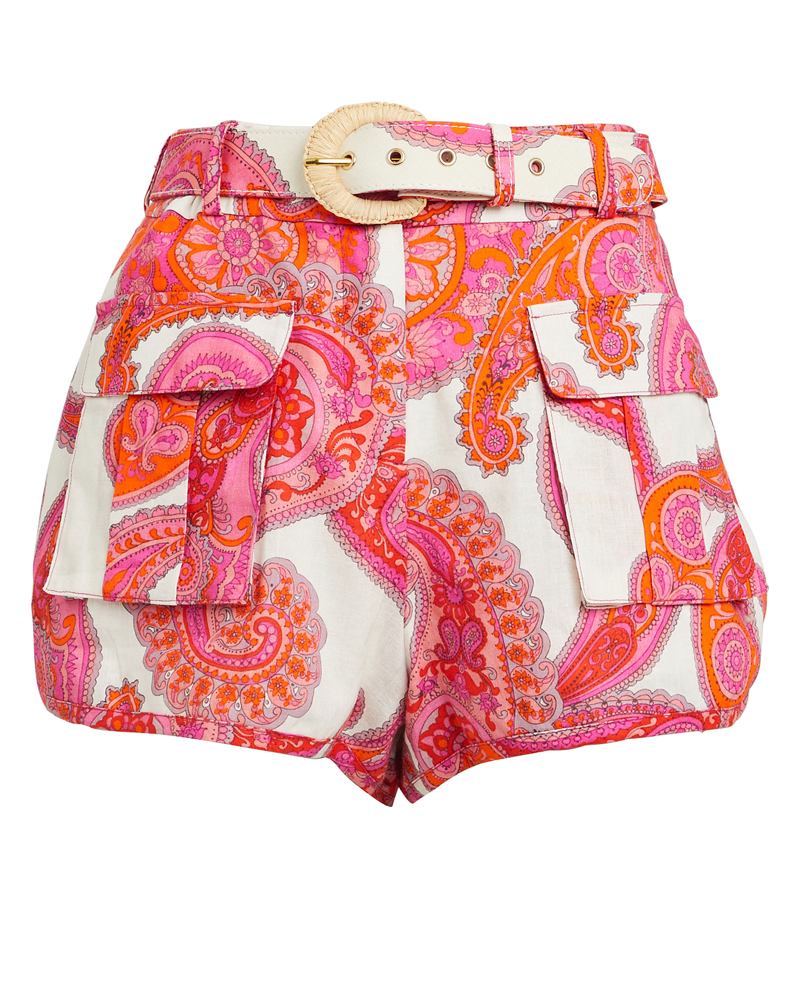 Zimmermann Shorts ZIMMERMANN PEGGY PAISLEY SAFARI SHORTS