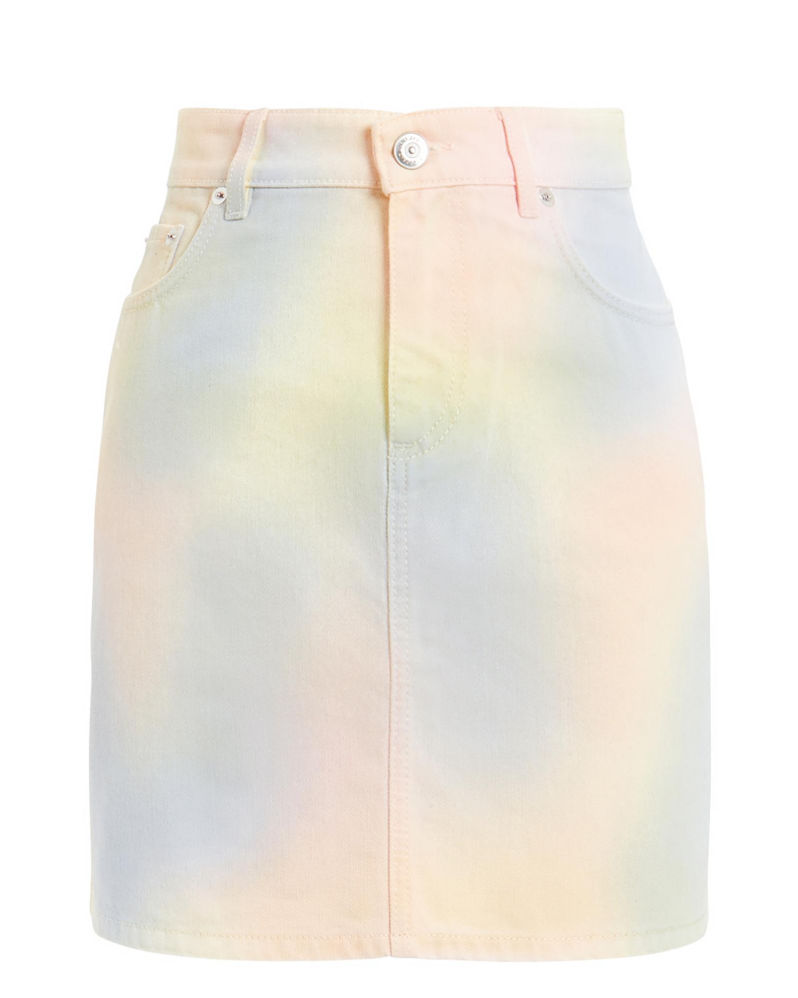Ganni Skirts Colorwashed Denim Mini Skirt
