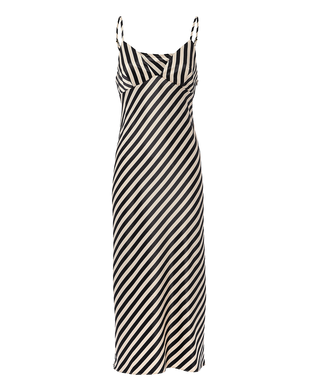 DUKE STRIPED SLIP MIDI DRESS MULTI