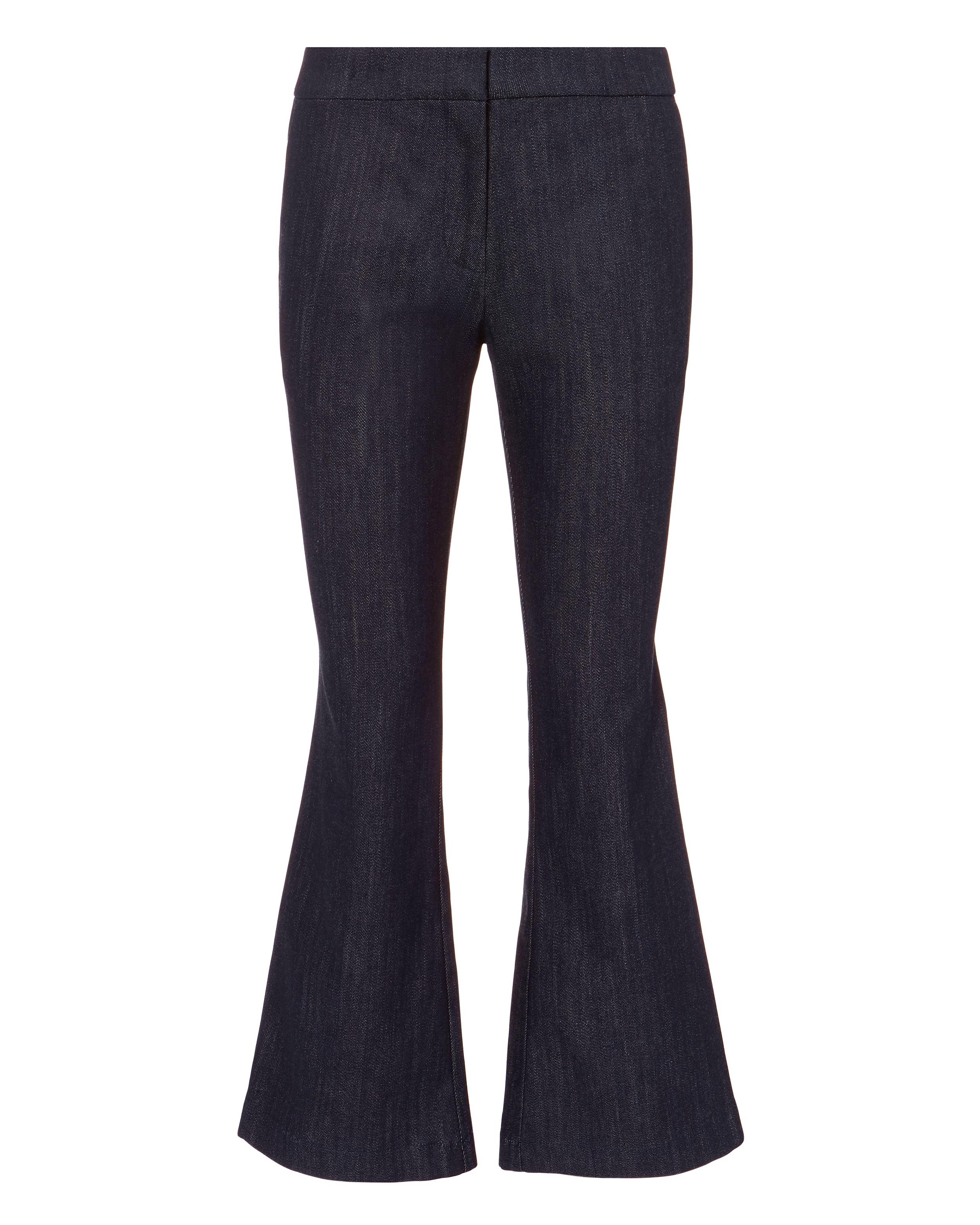 10 CROSBY Denim Crop Flare Trousers