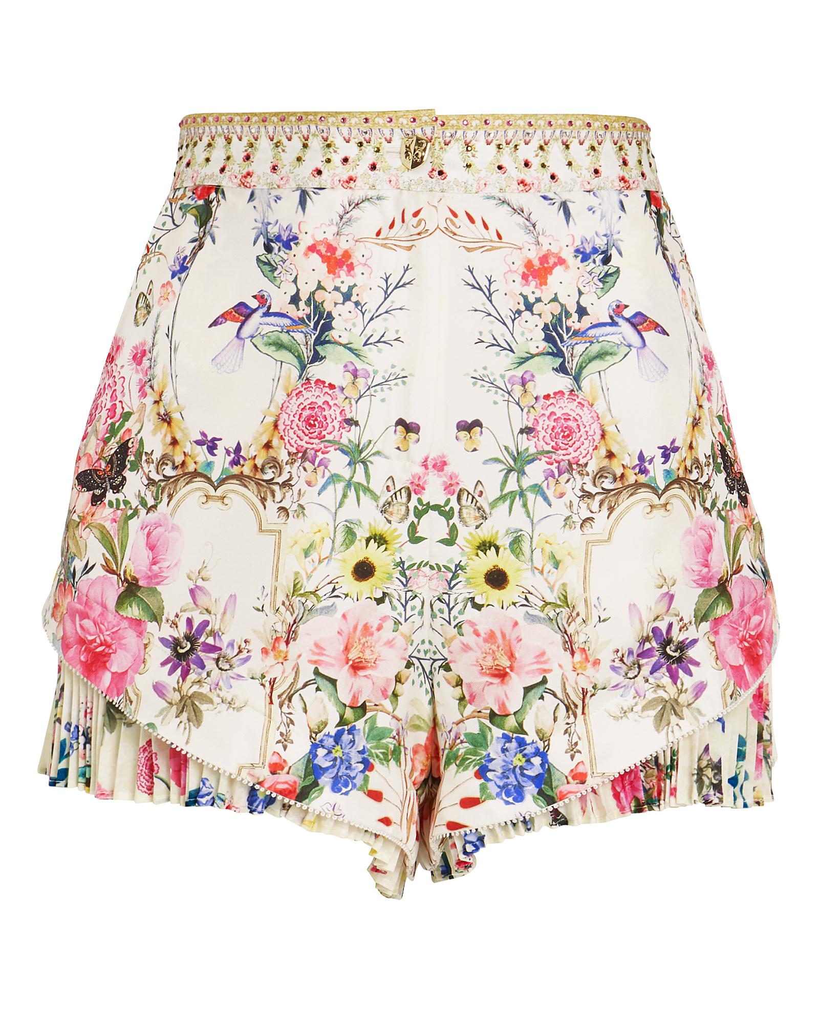 Camilla Shorts Versailles Print Ruffle Hem Shorts
