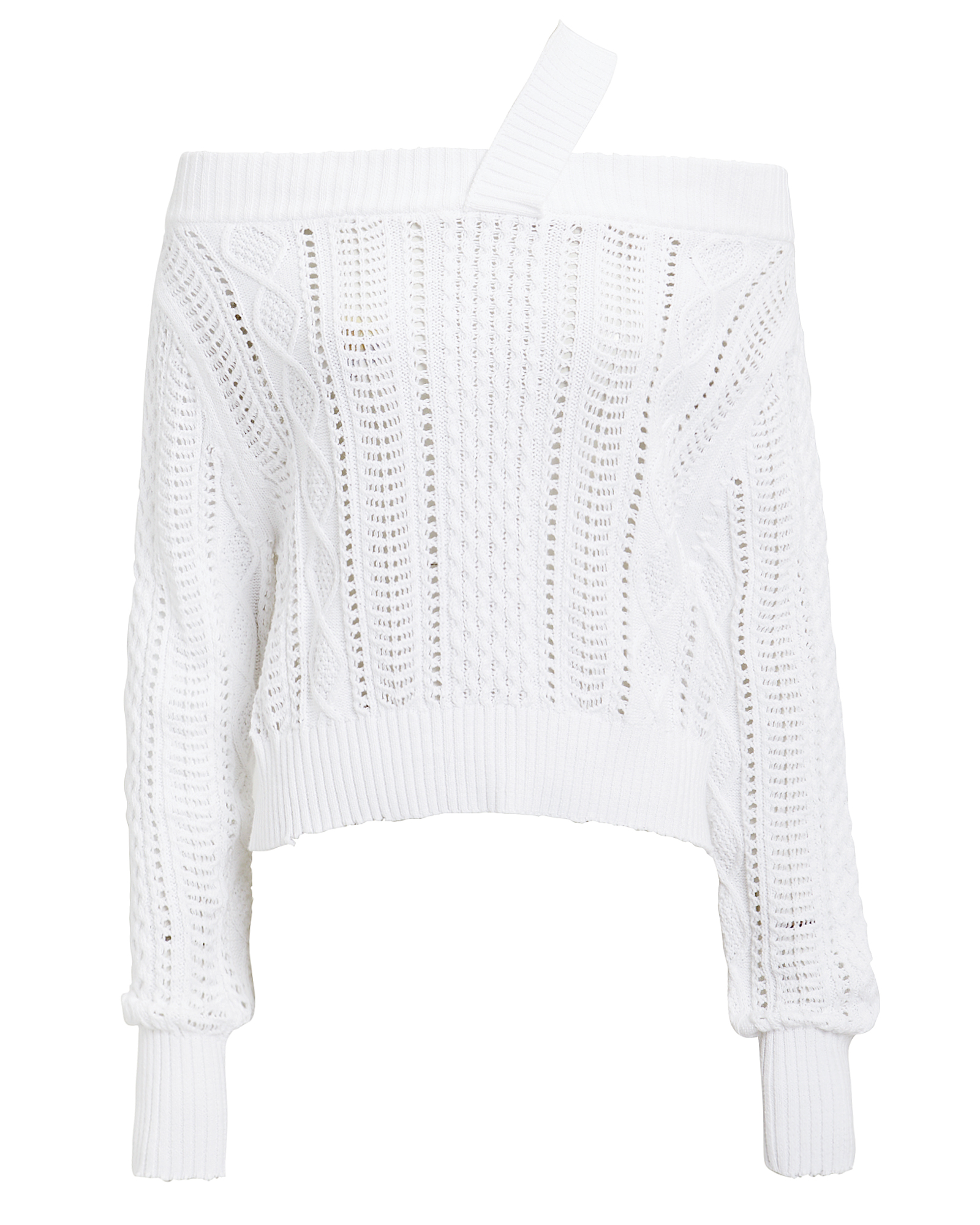 Rta Knits RTA BECKETT KNIT SWEATER  WHITE S