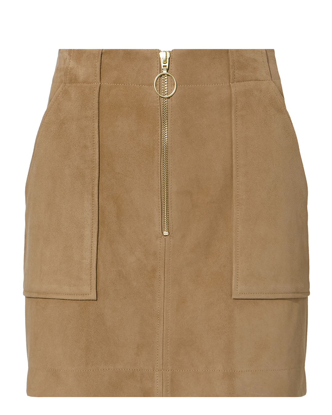 EXCLUSIVE FOR INTERMIX INTERMIX MAGDA SUEDE MINI SKIRT BROWN
