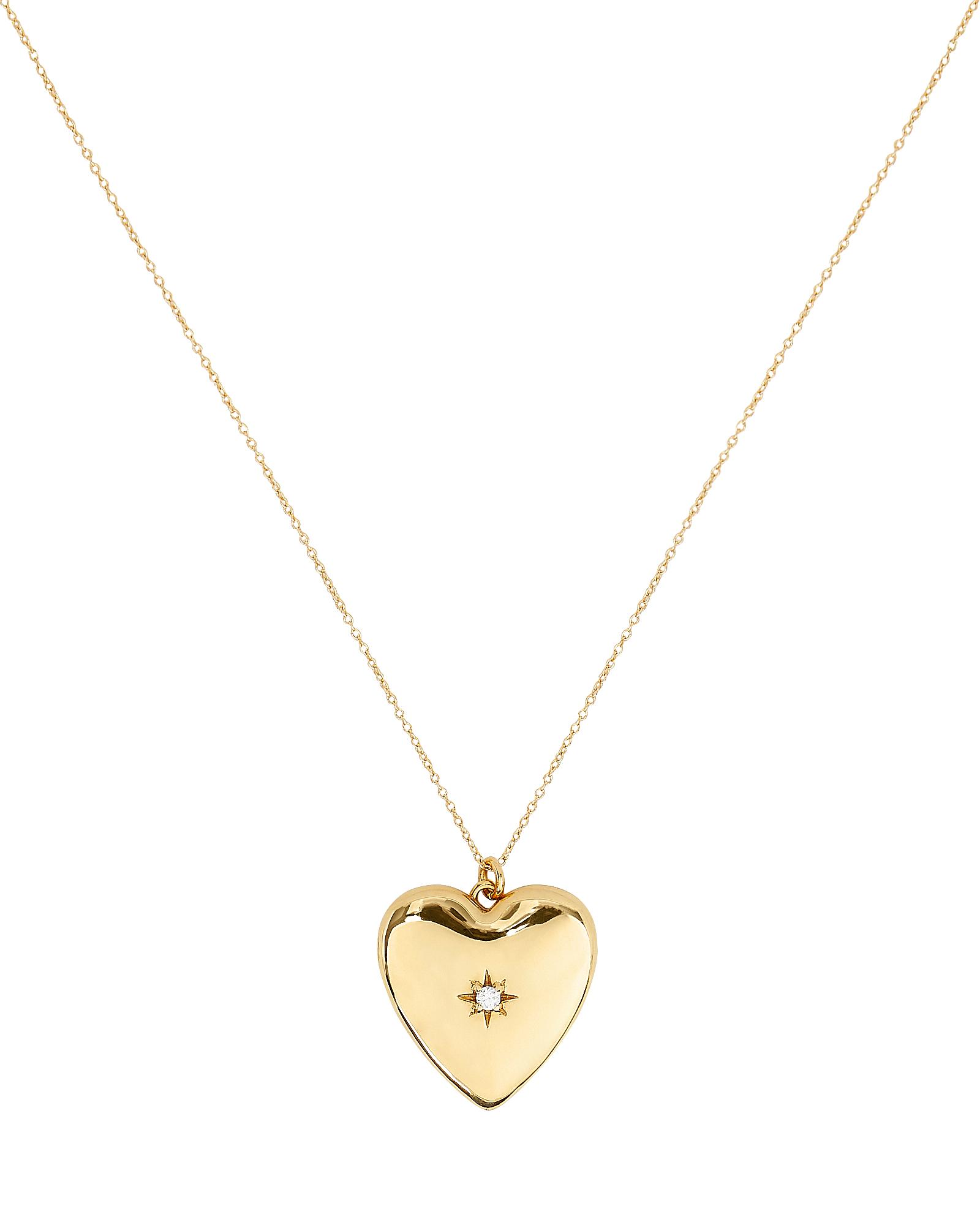 SASHA SAMUEL Anouk Heart Locket Necklace