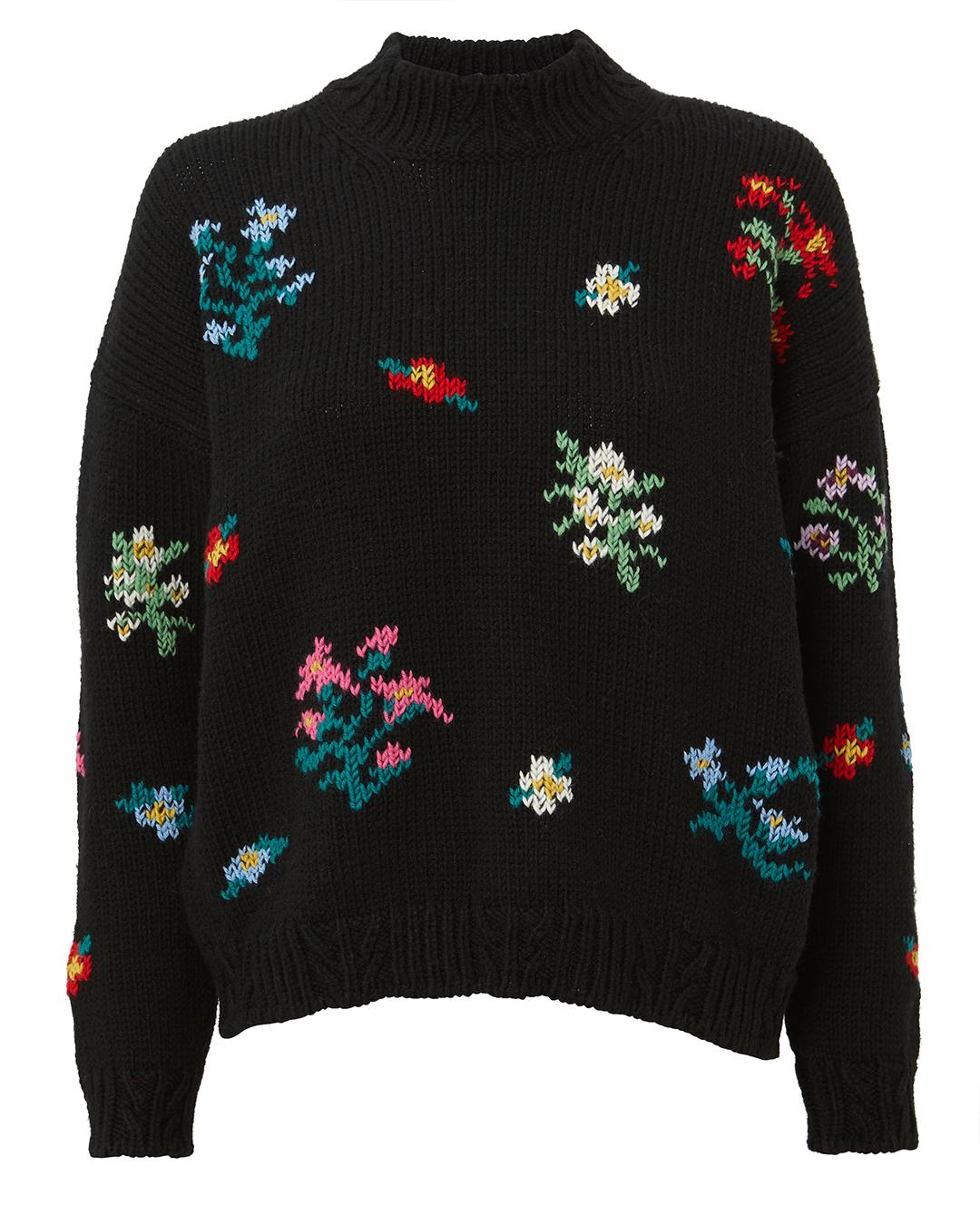 PHILOSOPHY DI L.SERAFINI Intarsia Floral Sweater