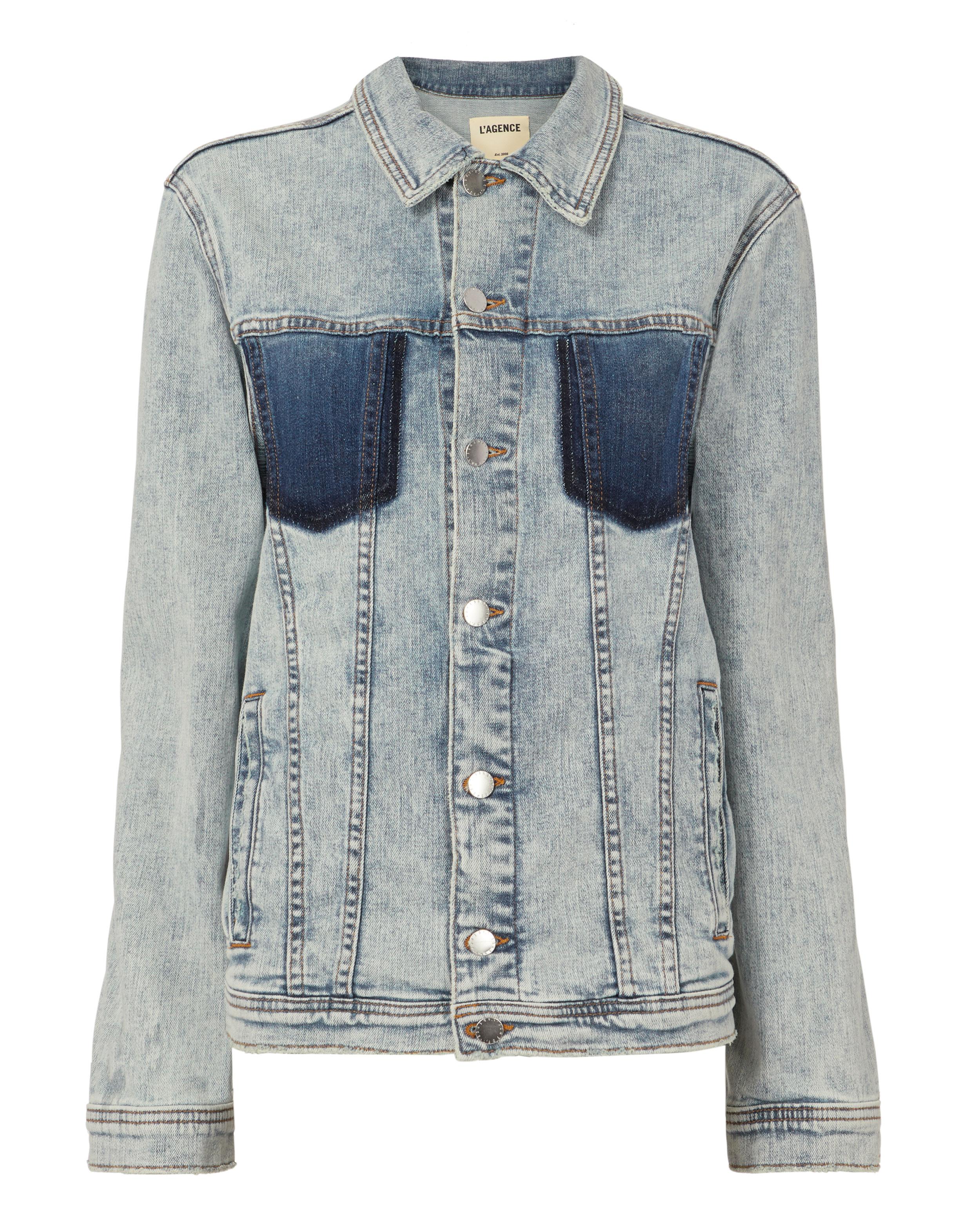 L'Agence Karina Oversized Deni Jacket Deni