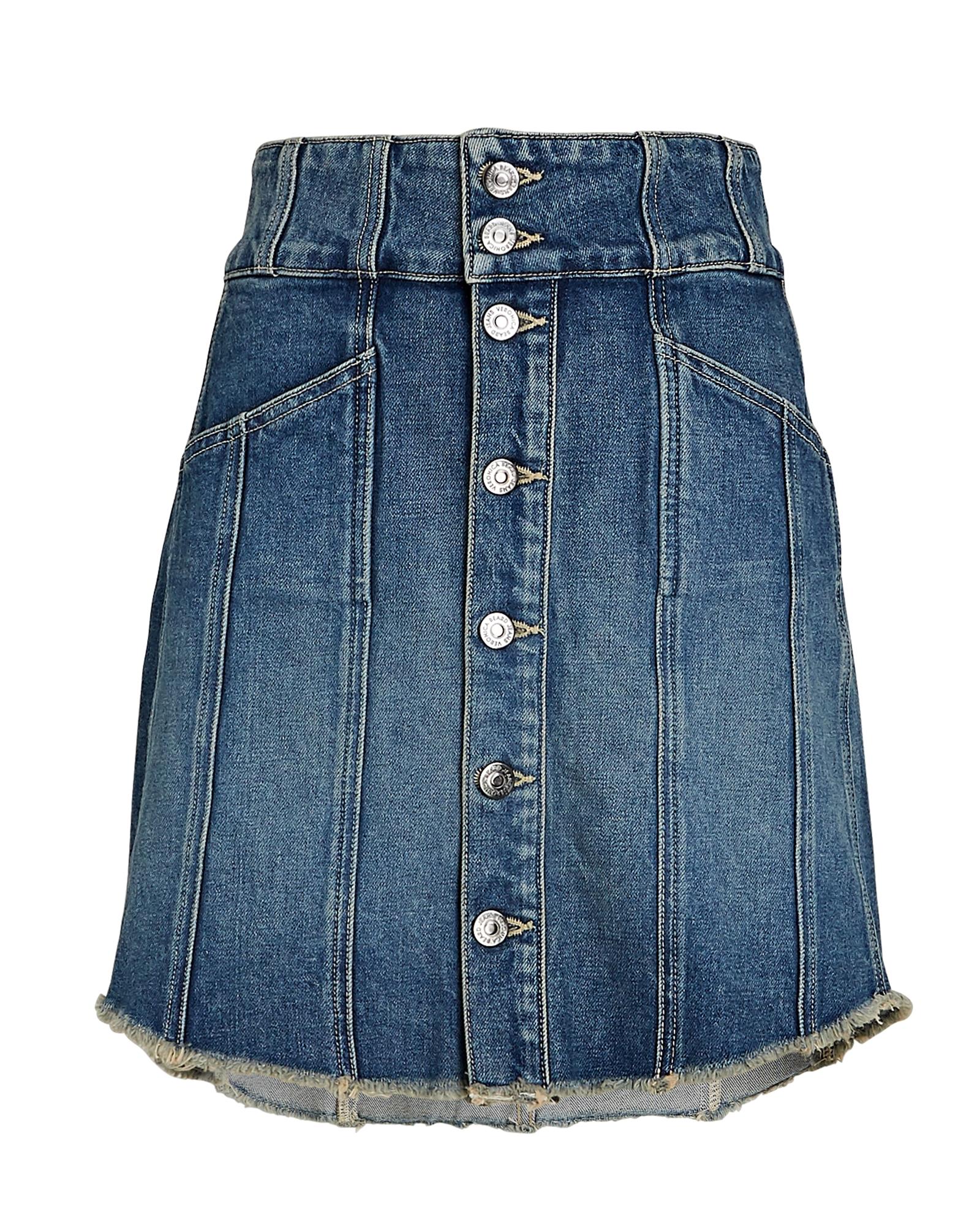 Veronica Beard Flora Denim Mini Skirt