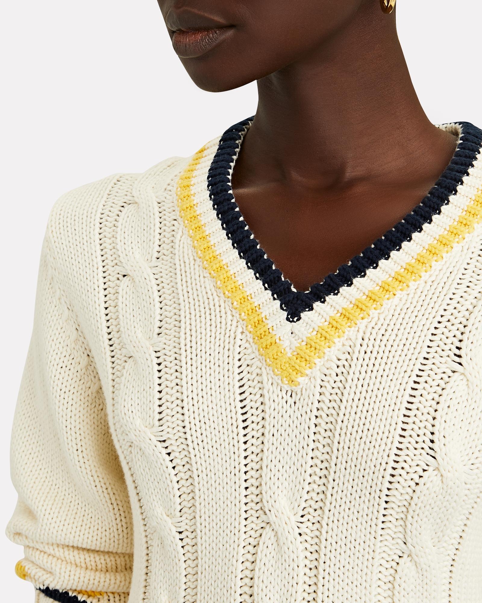 Denimist V Neck Tennis Sweater Intermix