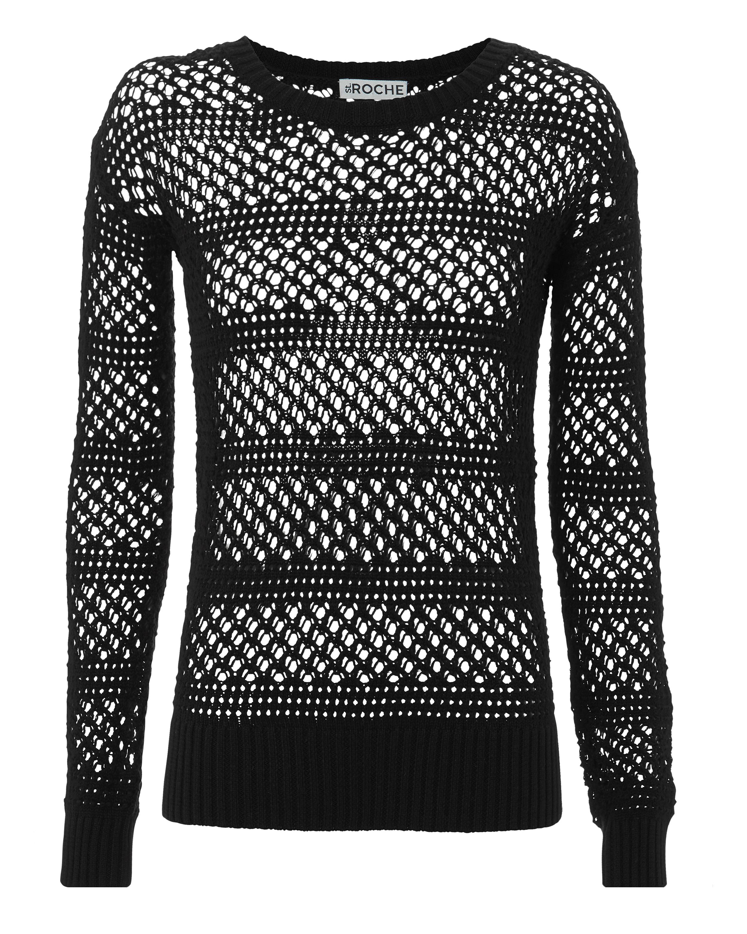 ST. ROCHE Natalia Open Knit Sweater