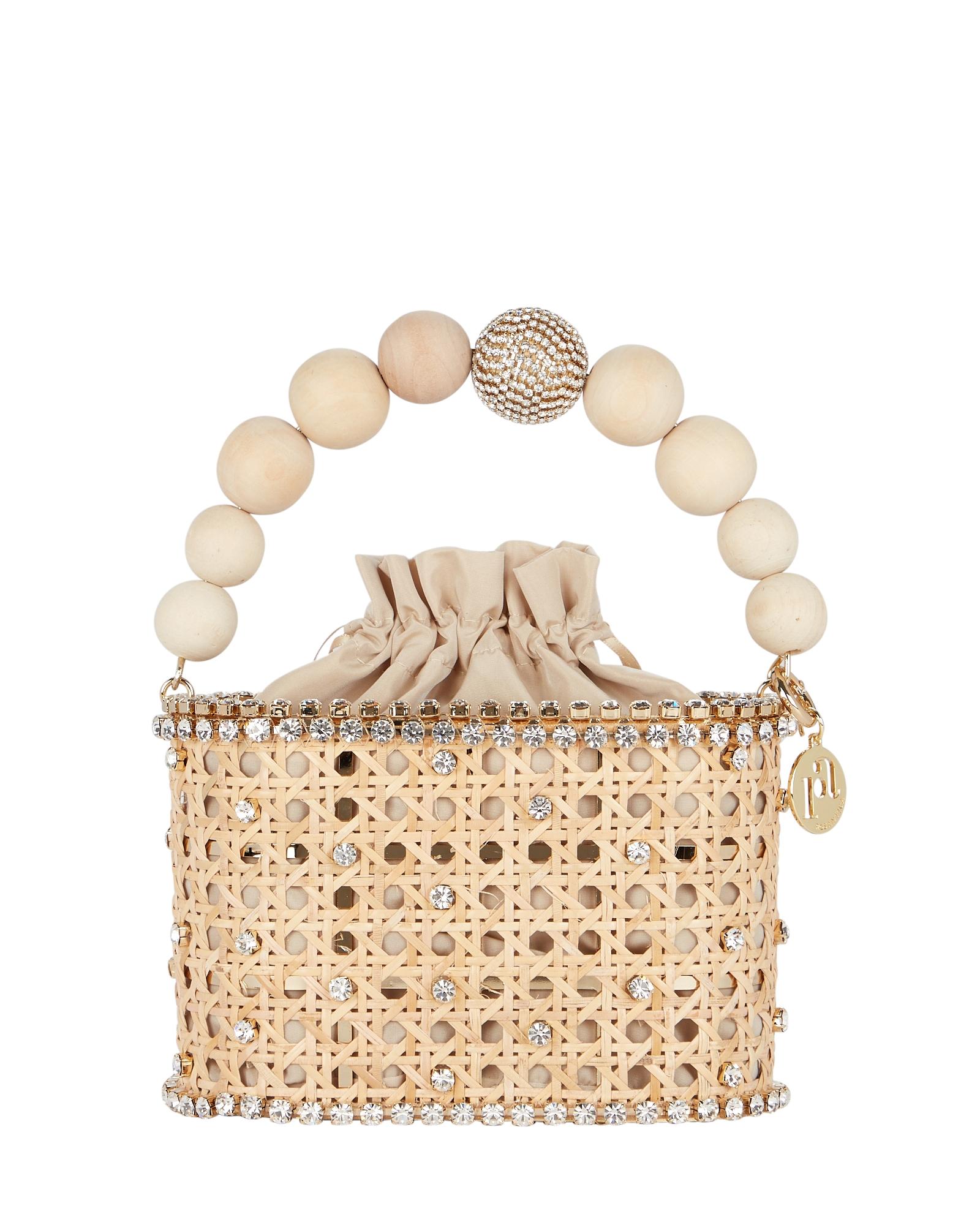 Rosantica Bags Holli Vienna Wicker Caged Clutch