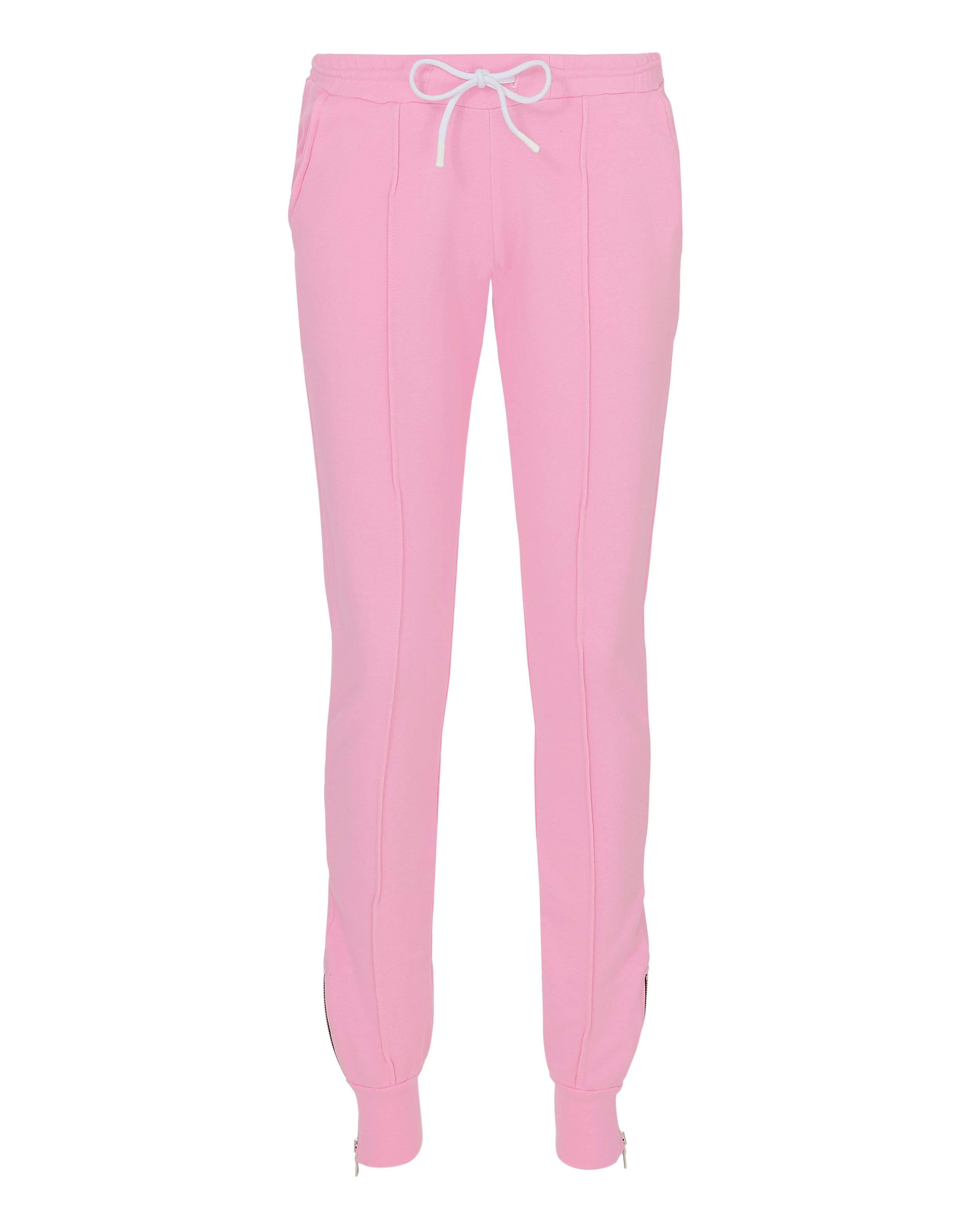 Milan Zip Detail Pink Jogger Pants by Cotton Citizen