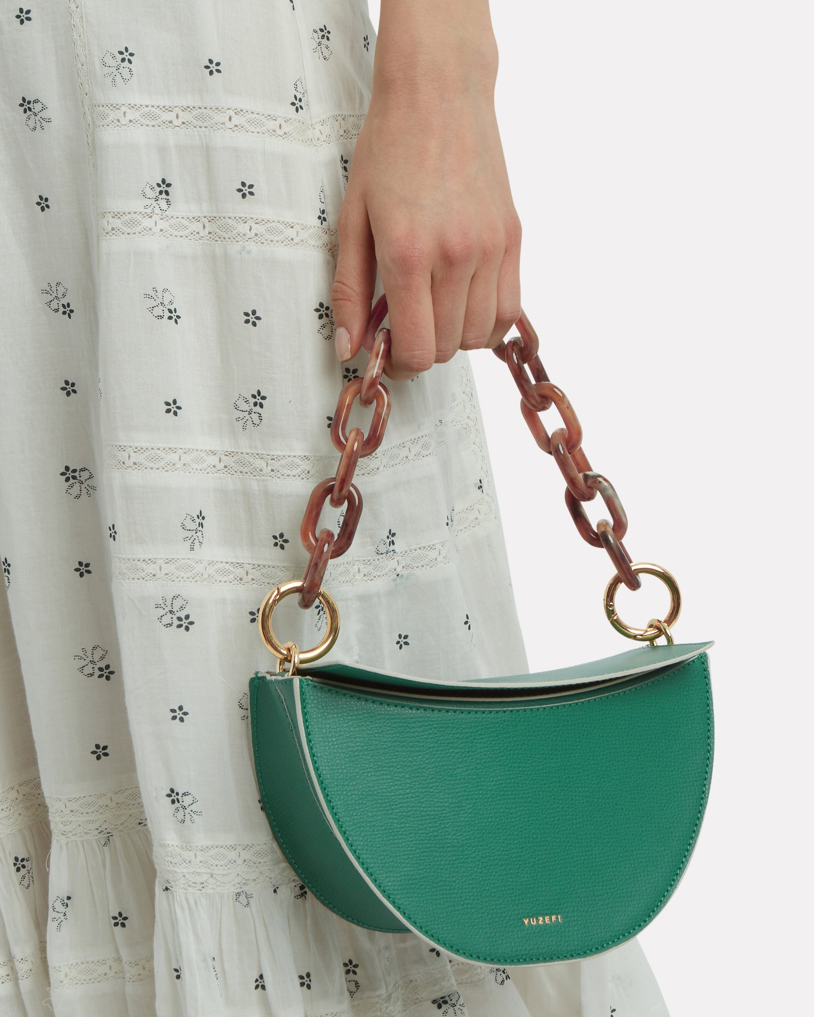 Doris Half Moon Leather Bag