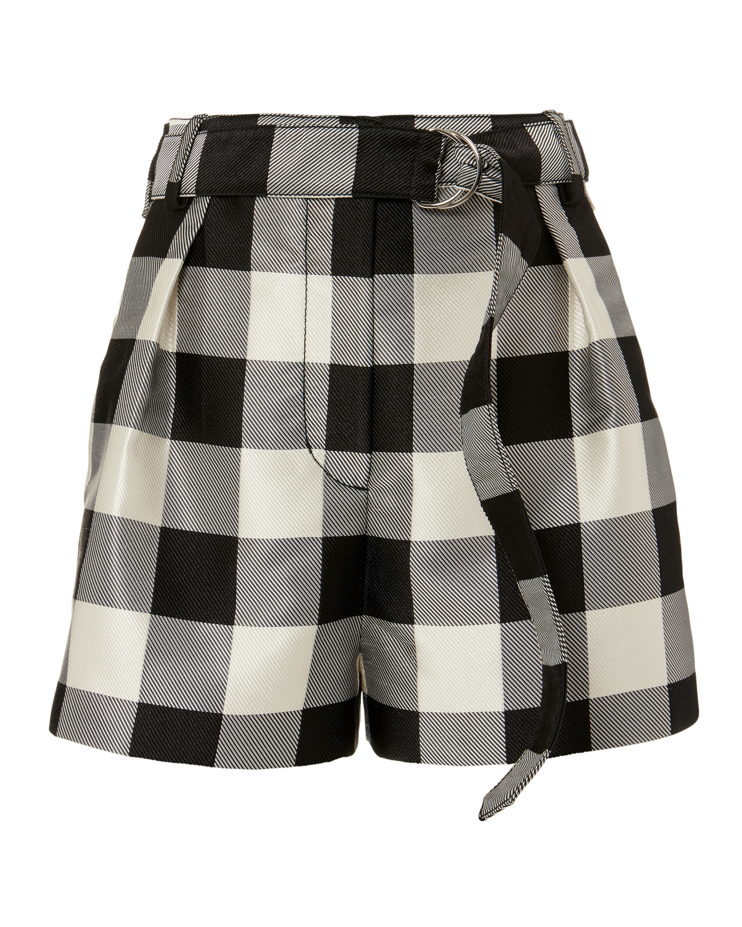 PHILLIP LIM Gingham Belted Military Shorts