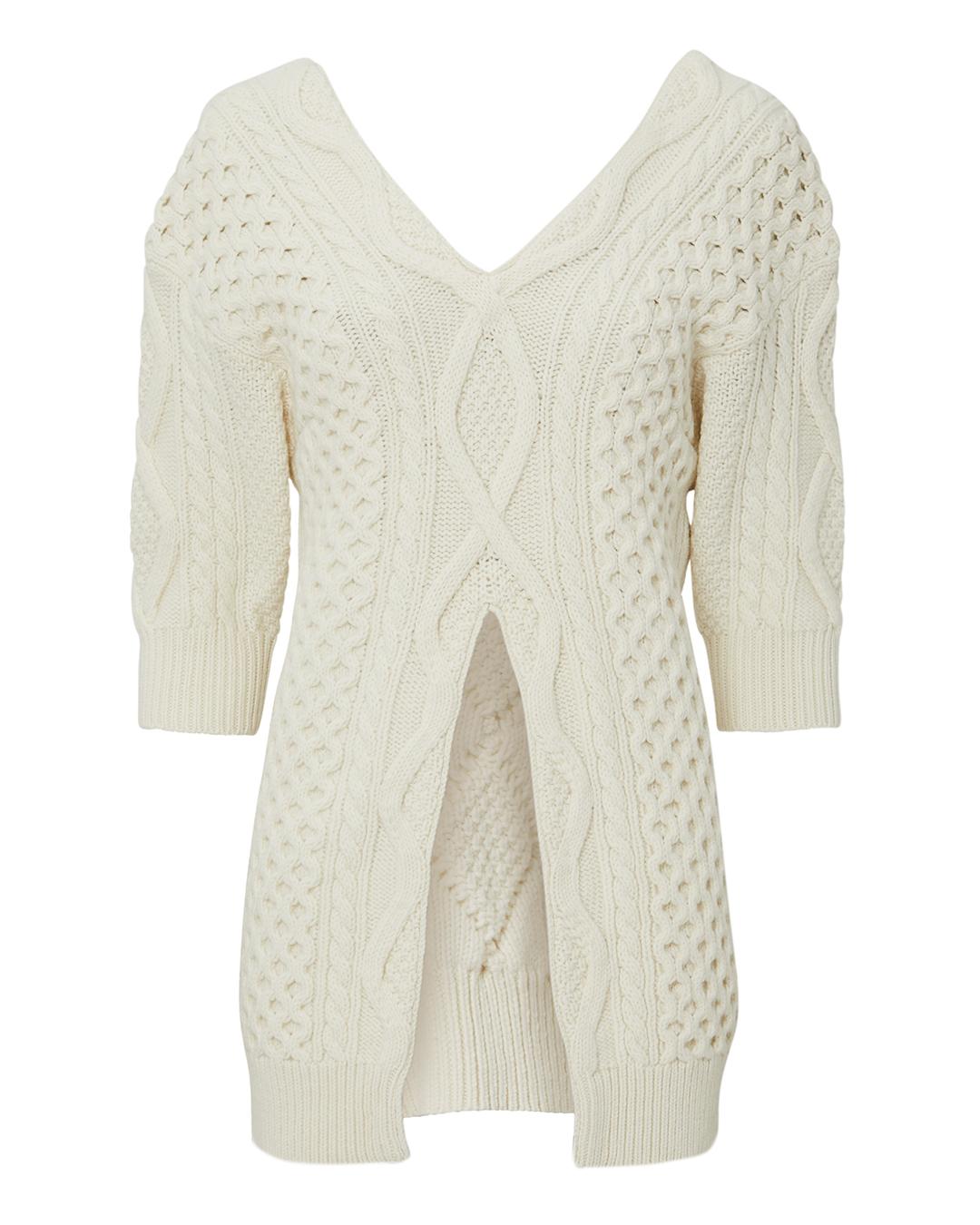 PHILLIP LIM 3.1 Hilli Lim Aran Cable Sweater Ivory