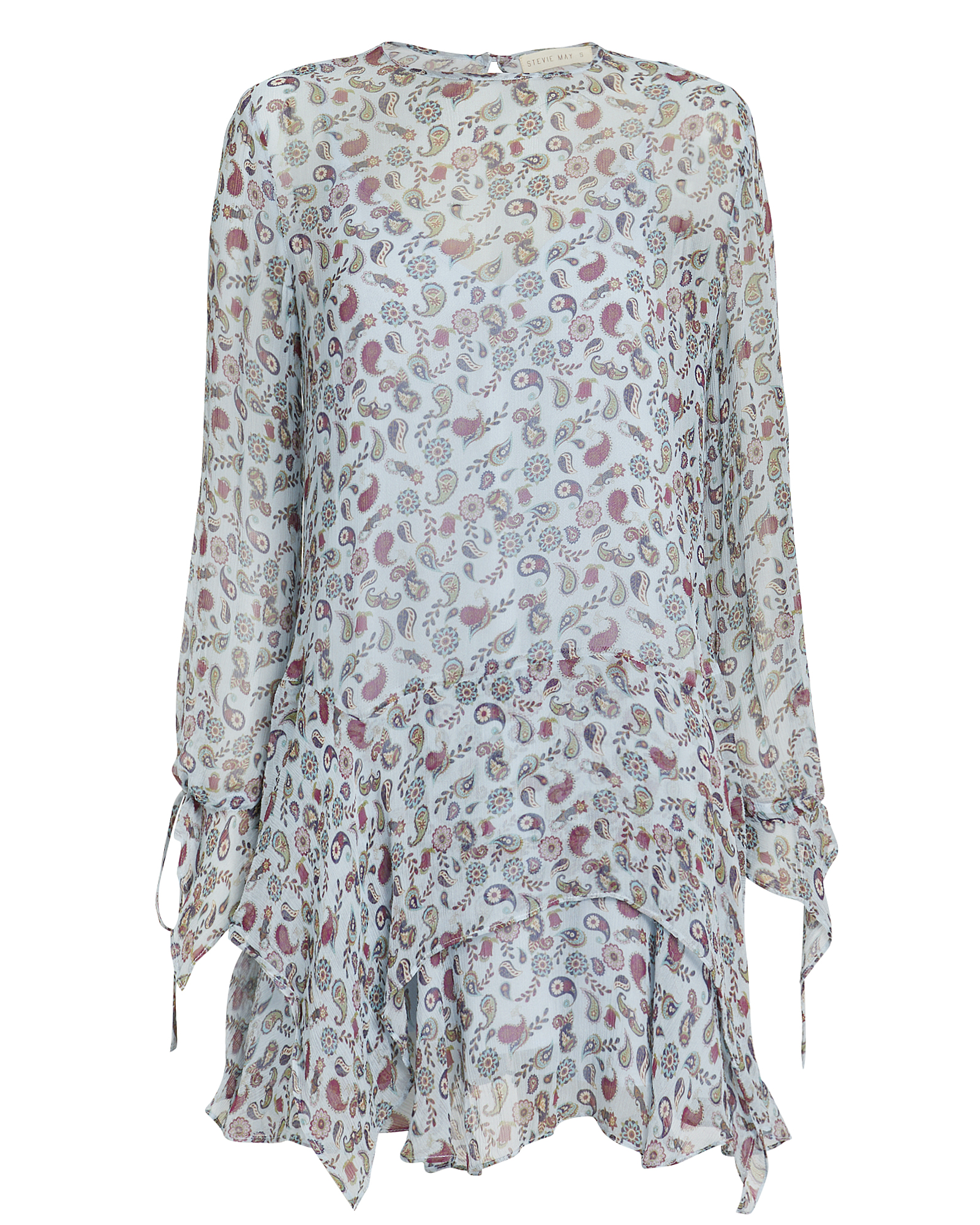 Stevie May Dresses STEVIE MAY DELILAH MINI DRESS  BLUE/PAISLEY M