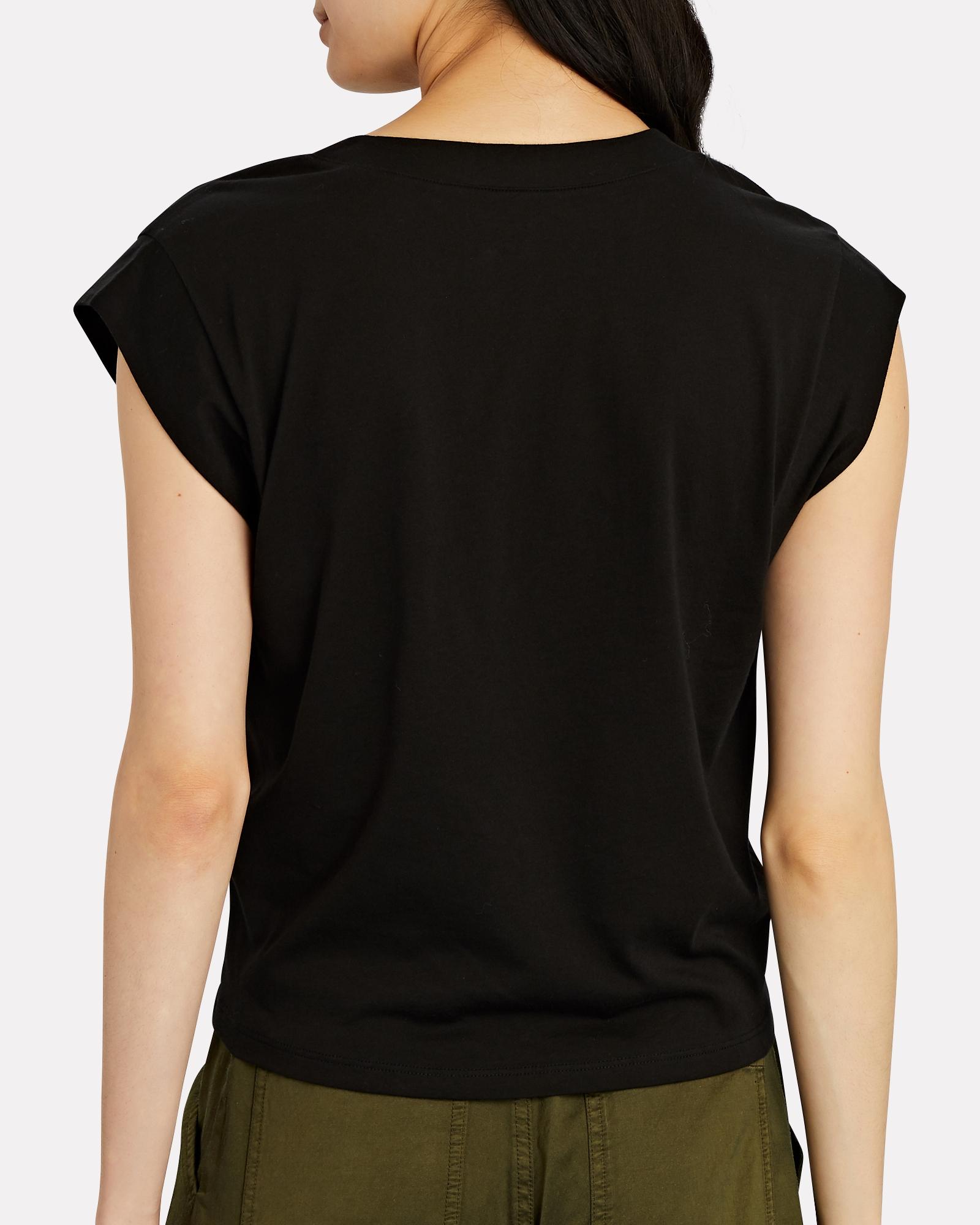frame le high rise v neck cotton t shirt intermix intermix
