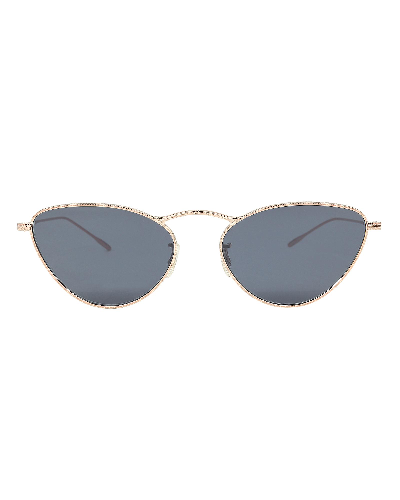 OLIVER PEOPLES Lelaina 56Mm Cat Eye Sunglasses - Carbon Gray/ Gold