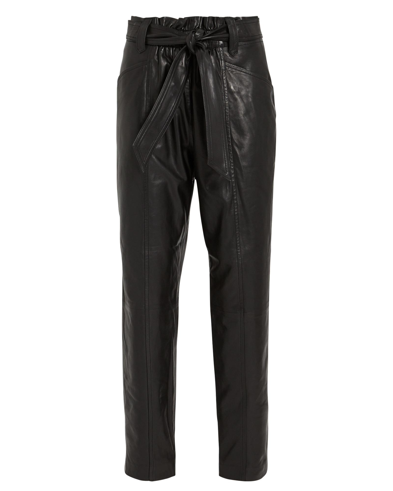 Iro Pants Davins Leather Paperbag Trousers