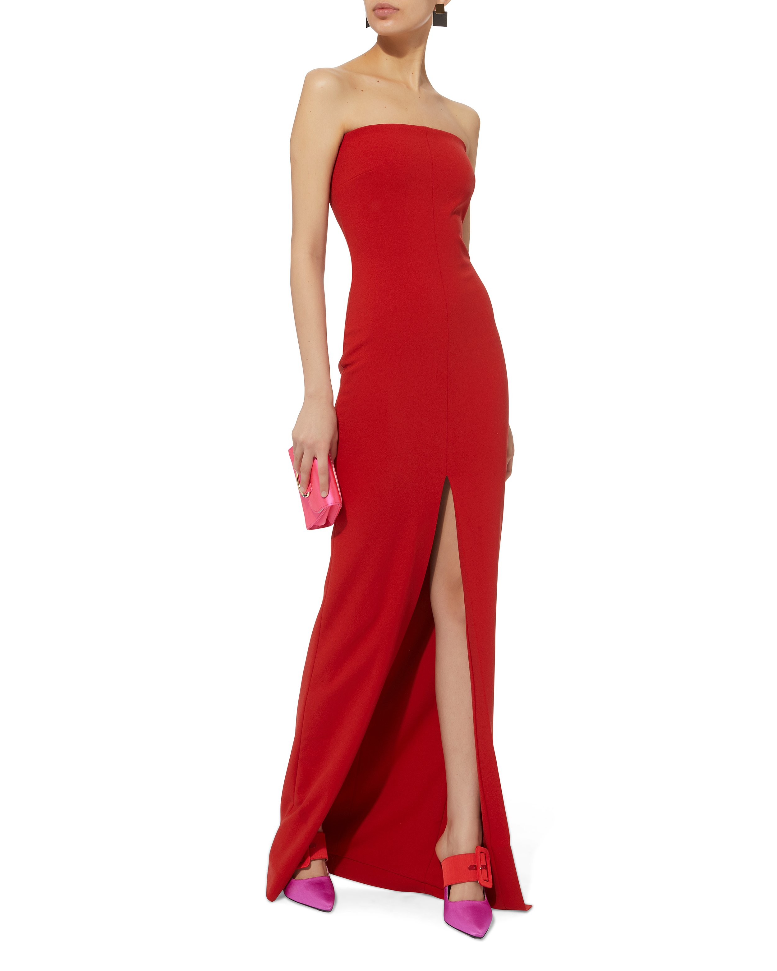 Bysha Red Strapless Gown | Solace London