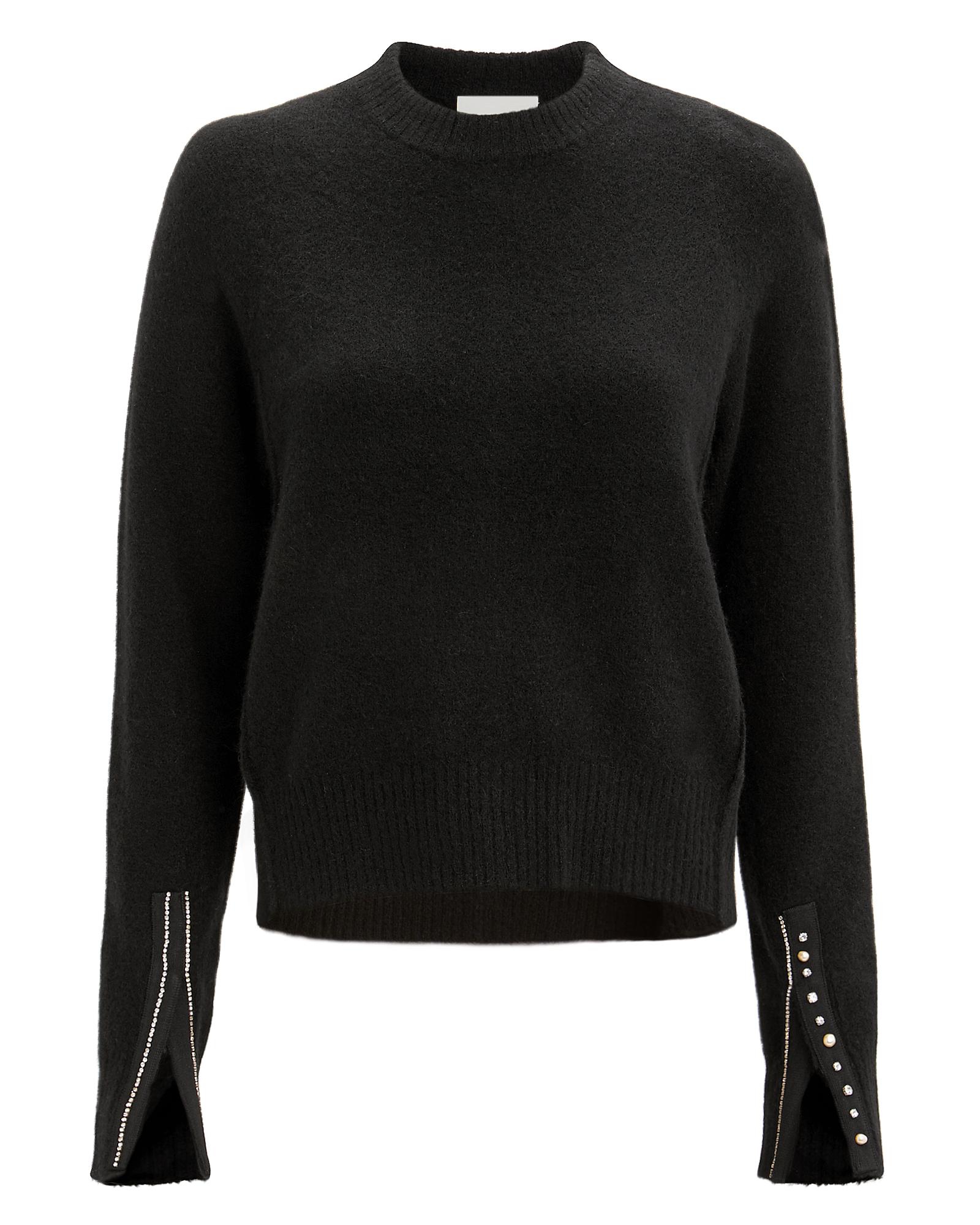 PHILLIP LIM 3.1 Phillip Li Ebellished Cuff Pullover Black