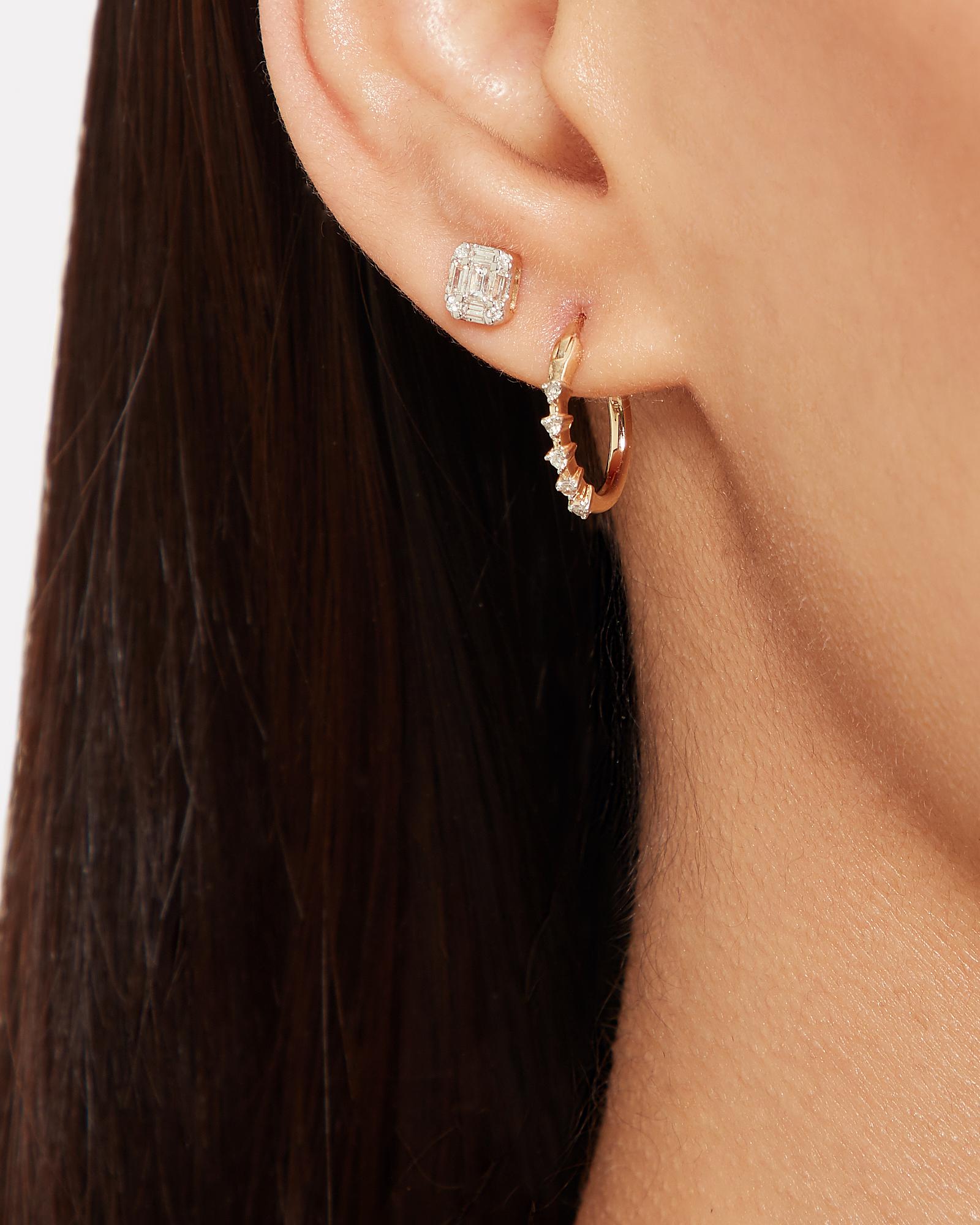 beaa57c59 ... 5 Diamond Huggie Hoops, GOLD, hi-res ...