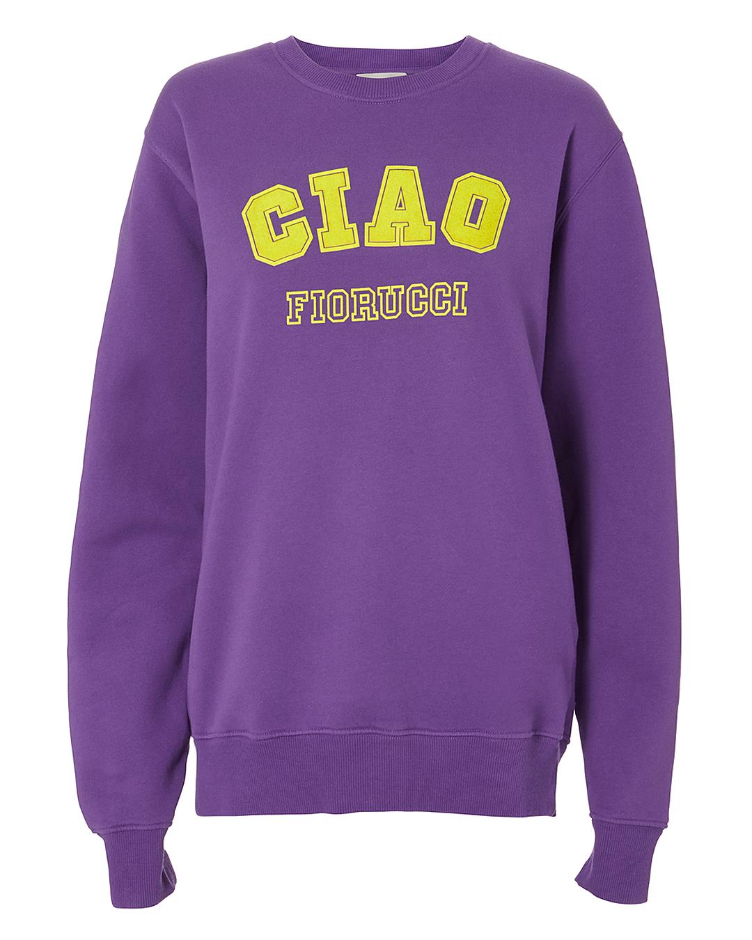 FIORUCCI Ciao Printed Cotton Sweatshirt in Purple